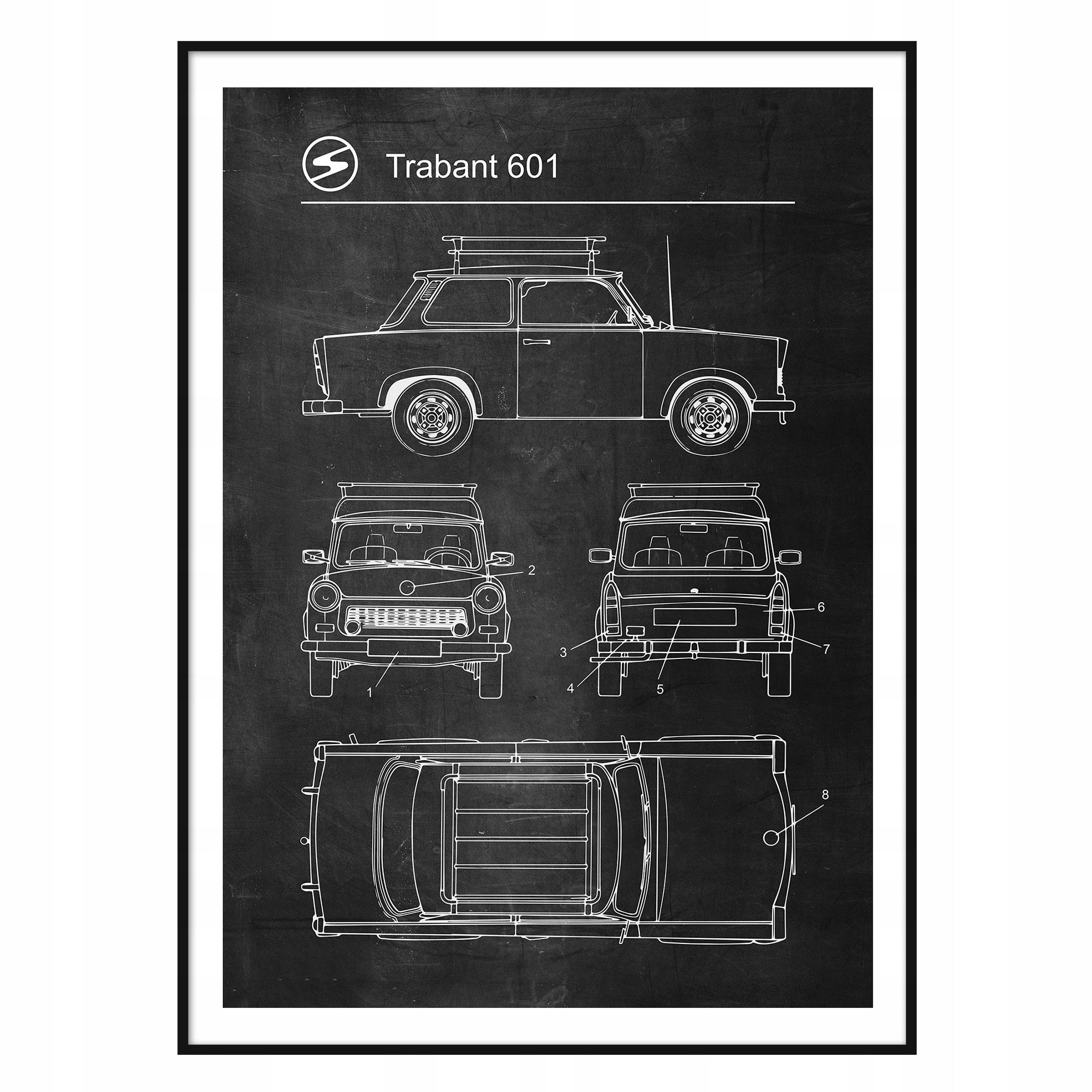 Retro patentový plagát Trabant 601