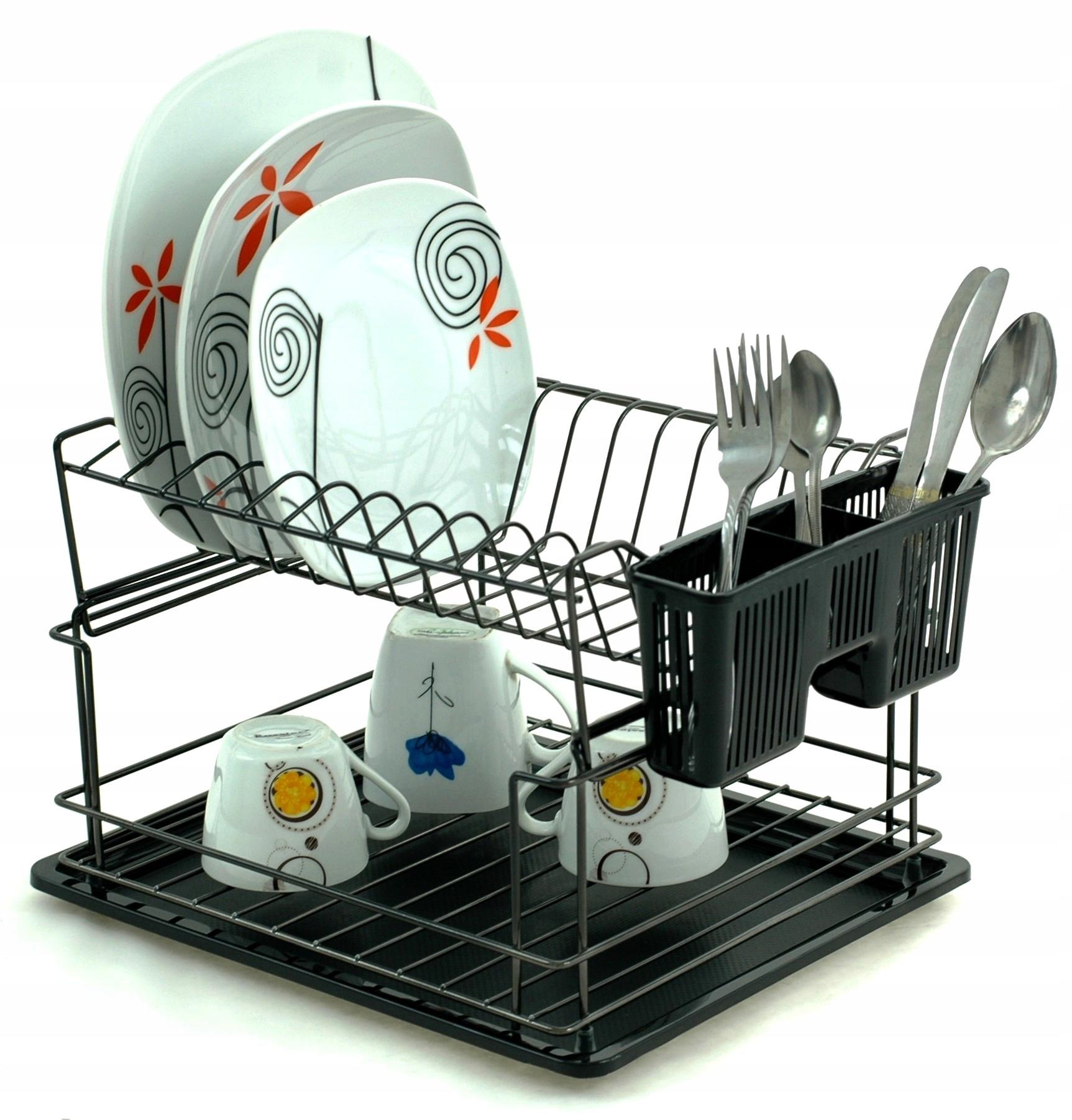 СУШИЛКА Посуды с NADSTAWKĄ Поддон столовые Приборы 4014