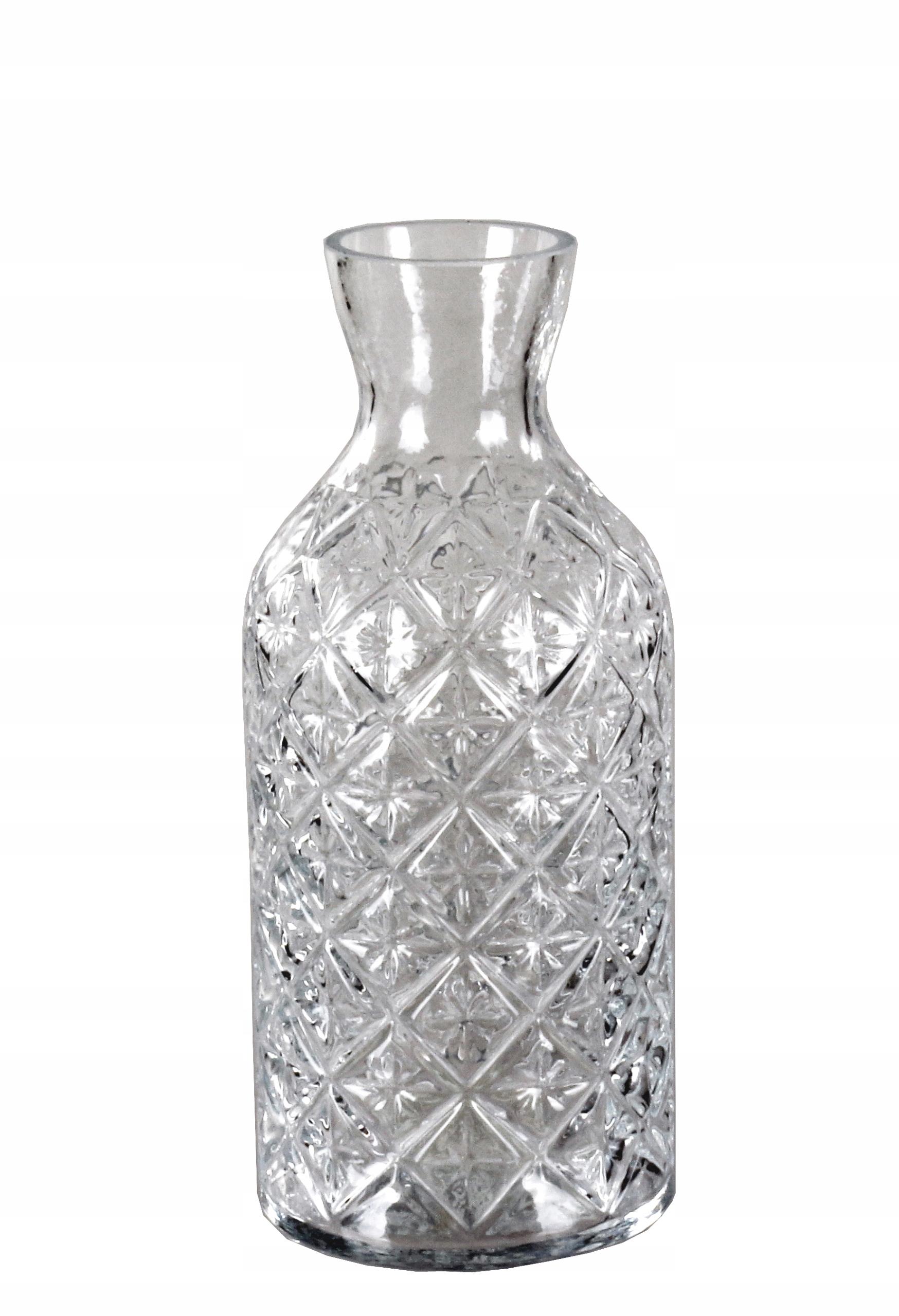 VÁZA sklo RETRO ŠTÝL šedá vysoká. 18 cm