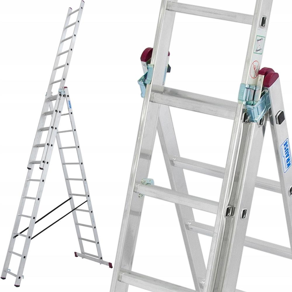 Краузе лестница алюминиевая CORDA 3x11 7 ,55м 030429
