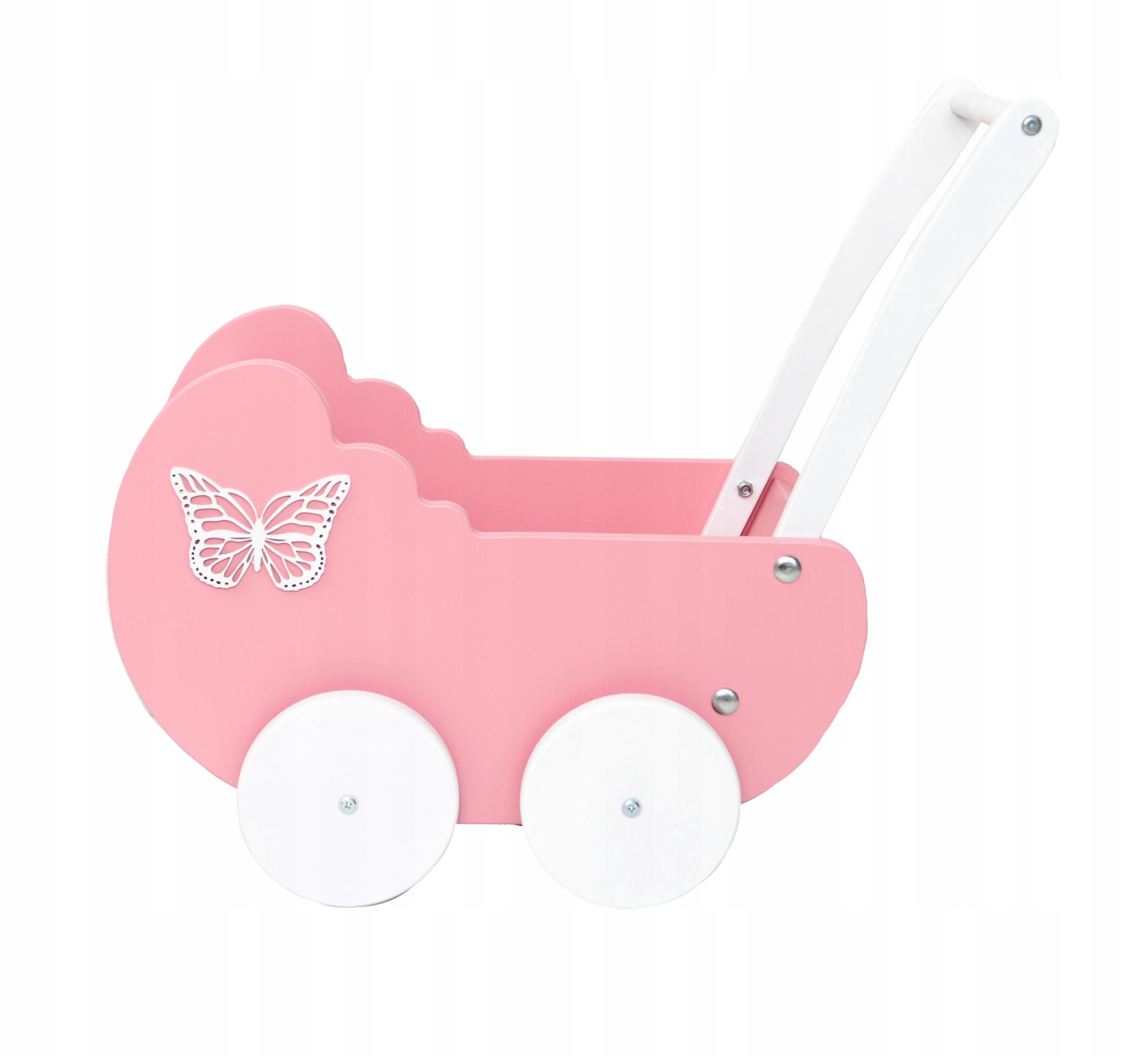 Drevený vozík na bábiky s darčekom Deň detí