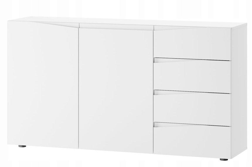 02 LUCCA toaletný stolík, dvere, zásuvky, biela Mat przedpokó