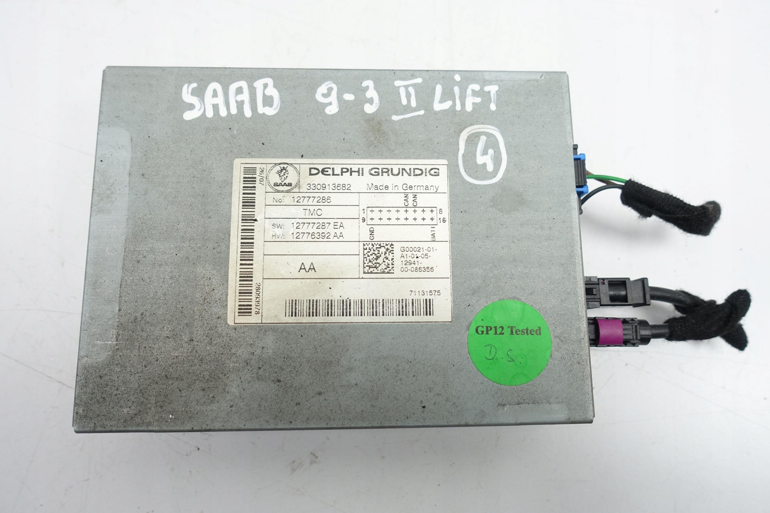 saab 93 9-3 ii lift усилитель радио модуль
