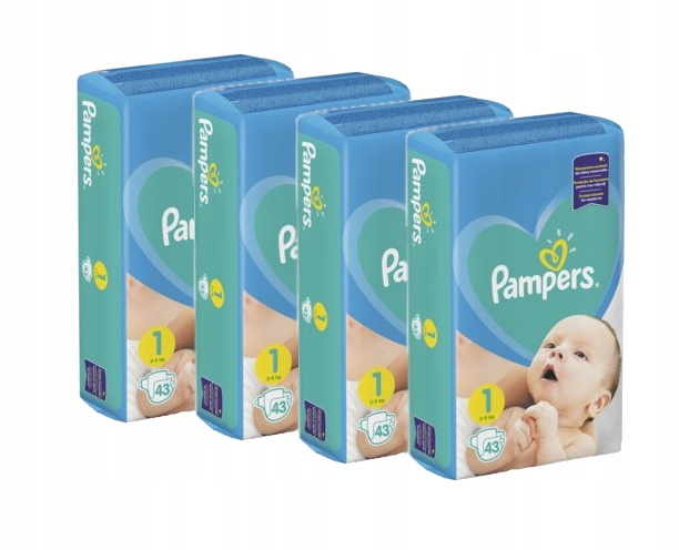 ПОДГУЗНИКИ PAMPERS New Baby 1 NEWBORN 4 x 43-172 шт