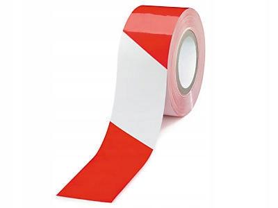 TAŚMA OSTRZEGAWCZA z klejem Biało-Czerwona