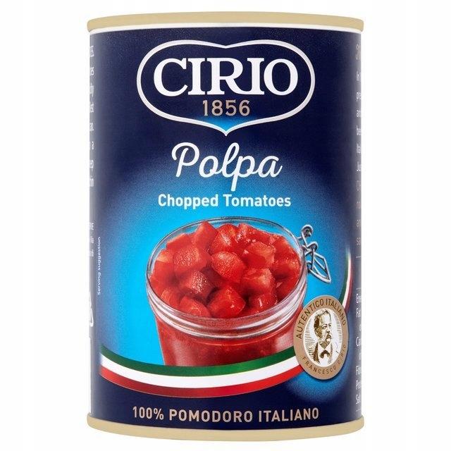 CIRIO włoskie pomidory w puszce krojone 400G