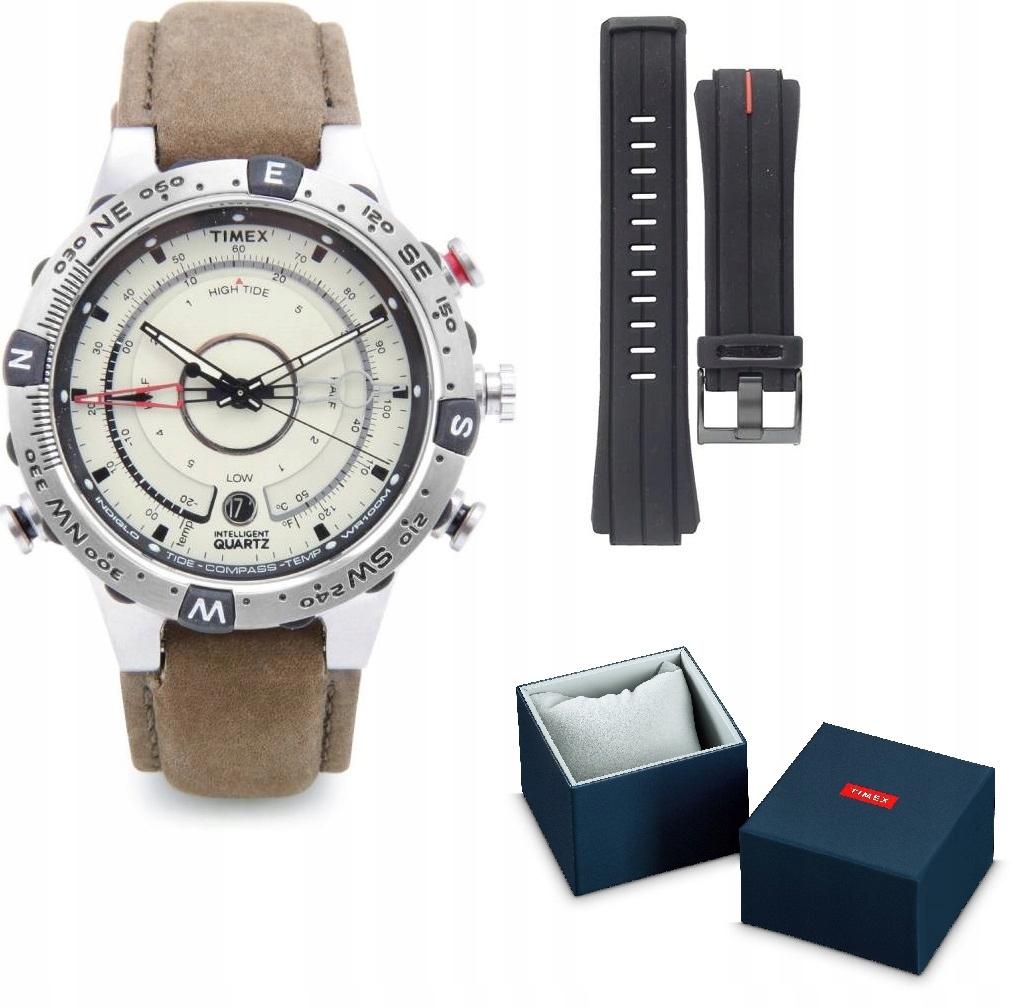 Zegarek męski Timex Kompas Termometr T2N721 zestaw