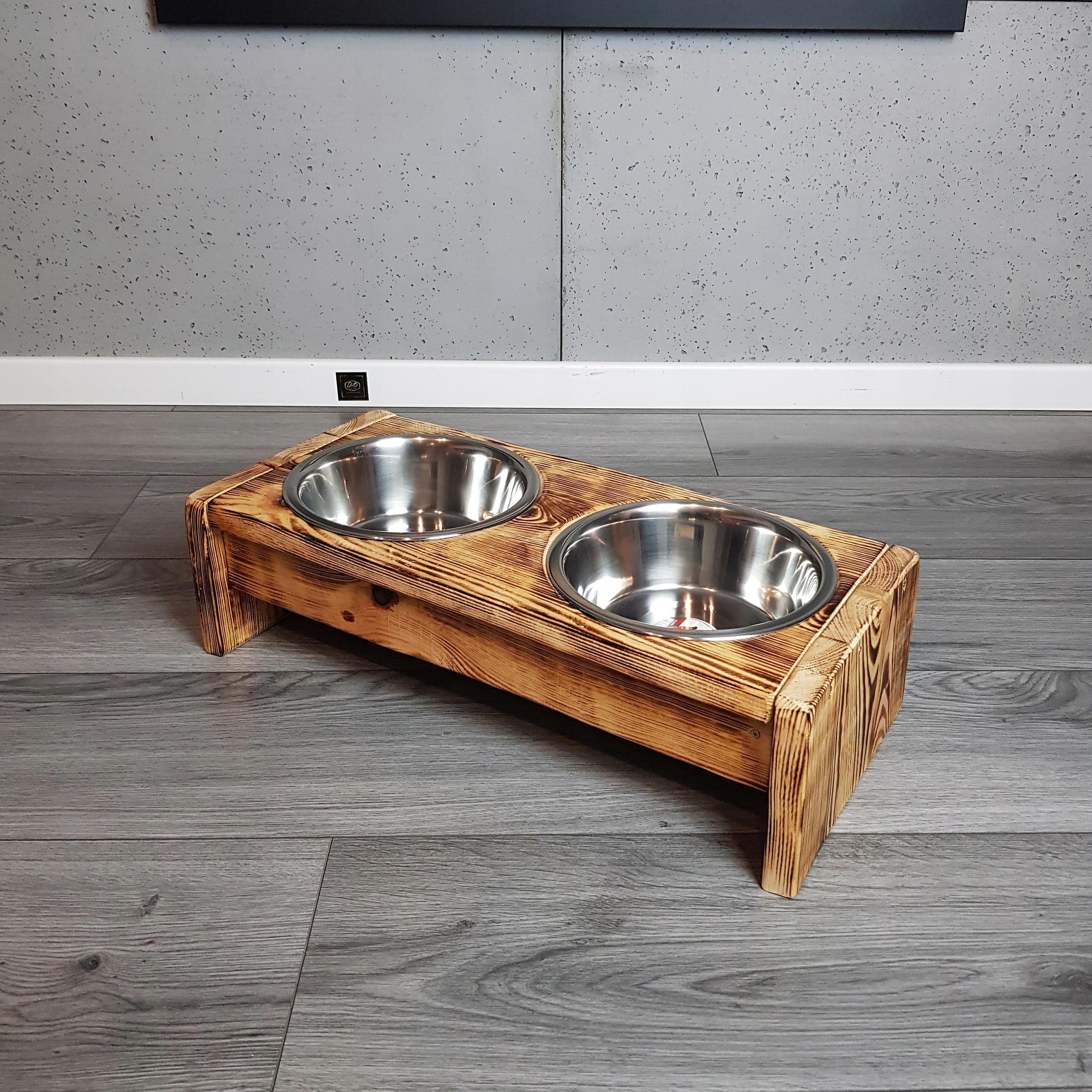 Купить ECO Подставка для собачьих мисок 1,8 л, на дровах на Otpravka - цены и фото - доставка из Польши и стран Европы в Украину.