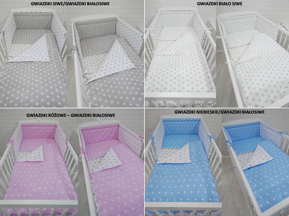 pościel do łóżeczka 135x100 + ochraniacz 3 el. 7074174295