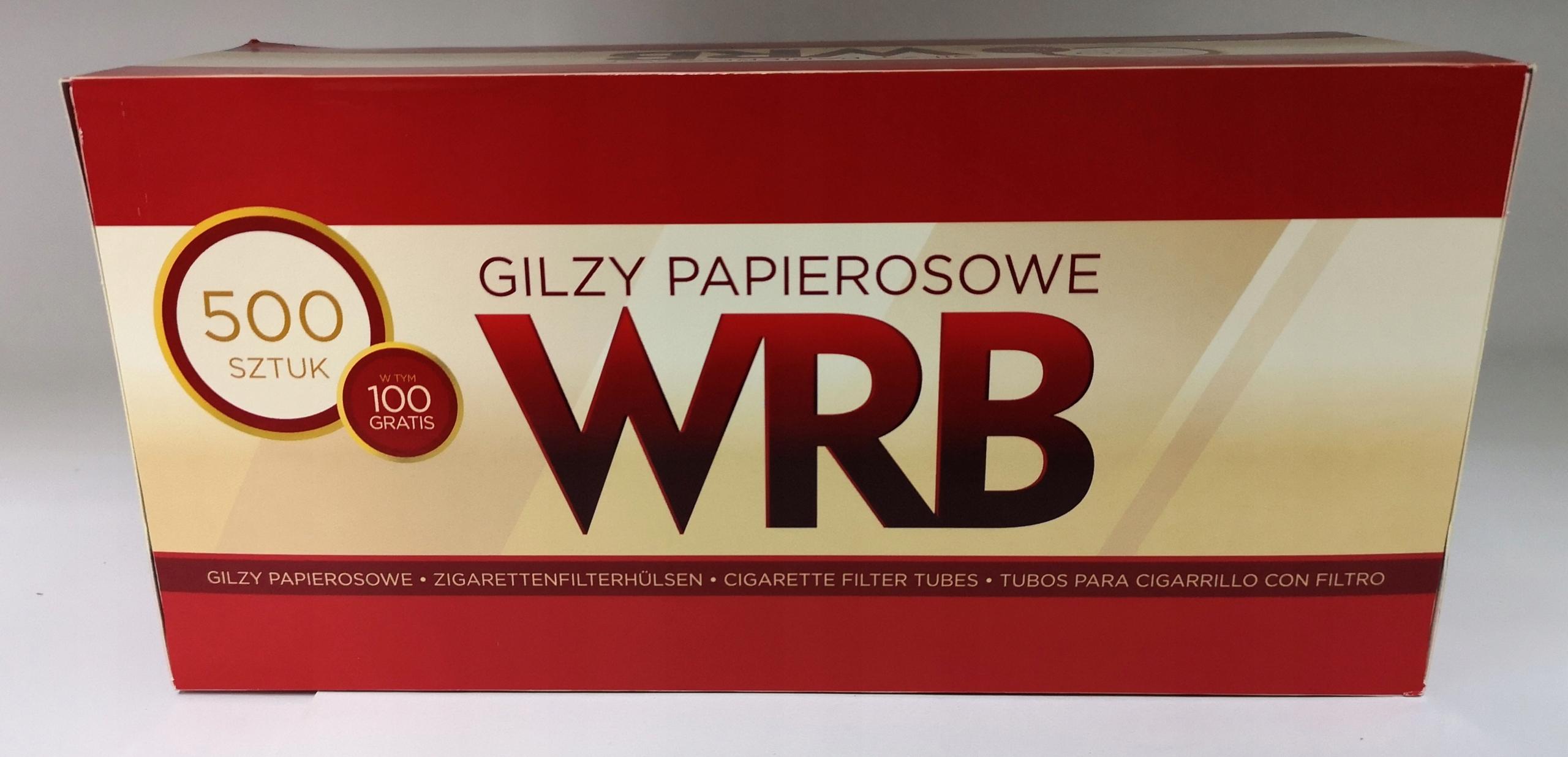 GILZY PAPIEROSOWE WRB 500 sztuk SUPER CENA !!!