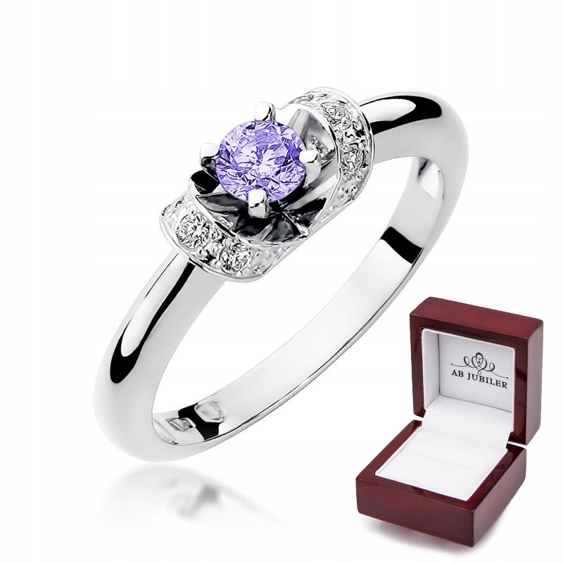 Zásnubný Prsteň S 43 Diamanty Tanzanit