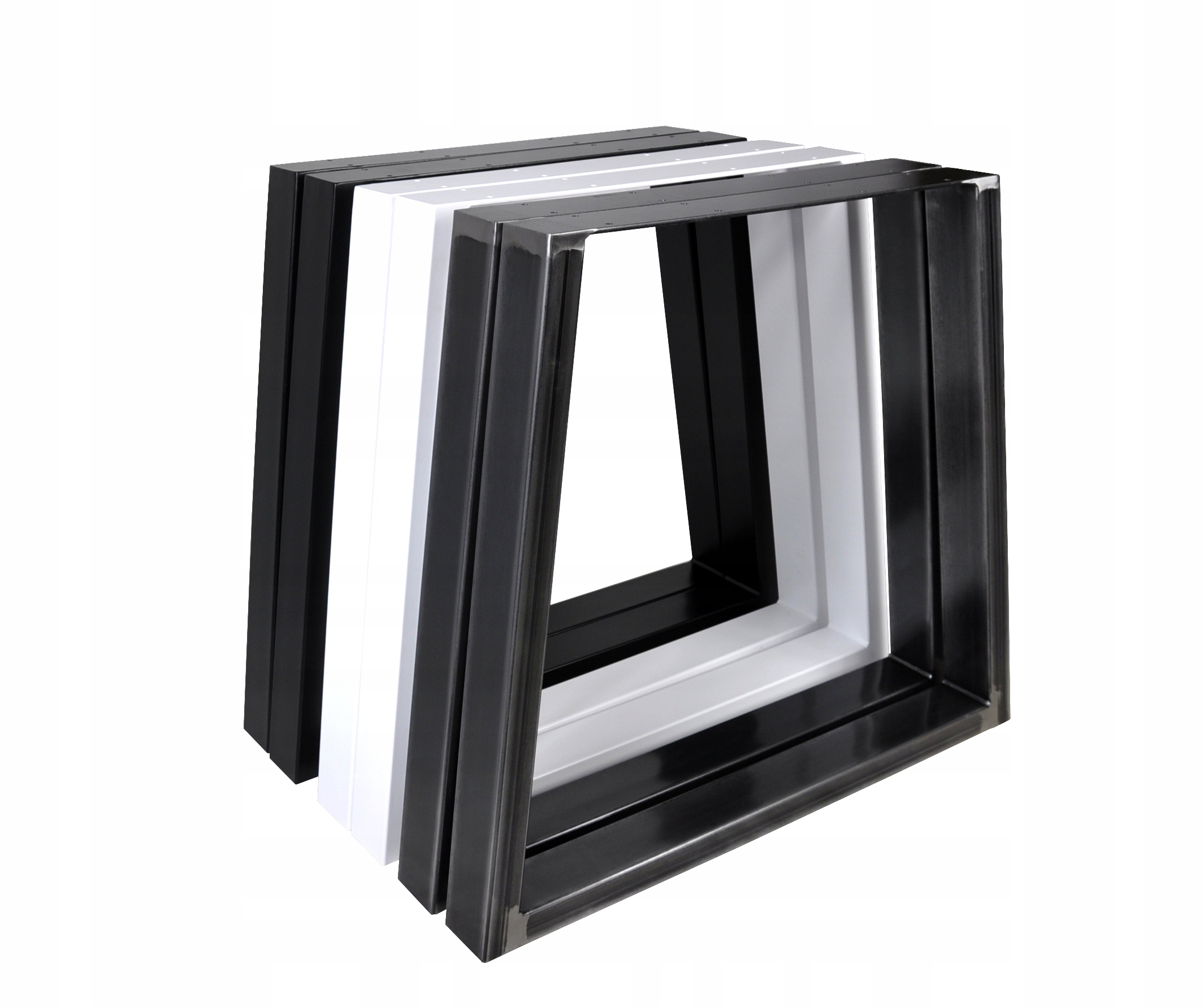 2 x kovové nohy pre stôl Trapezoid čierne