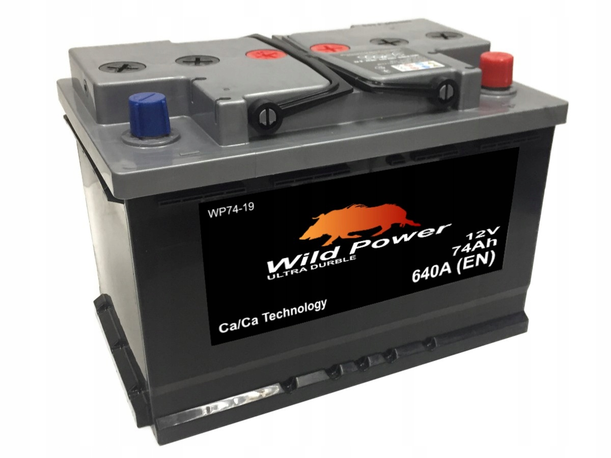 аккумулятор wild power wp74-19 12v 74ah 640a p+ e11