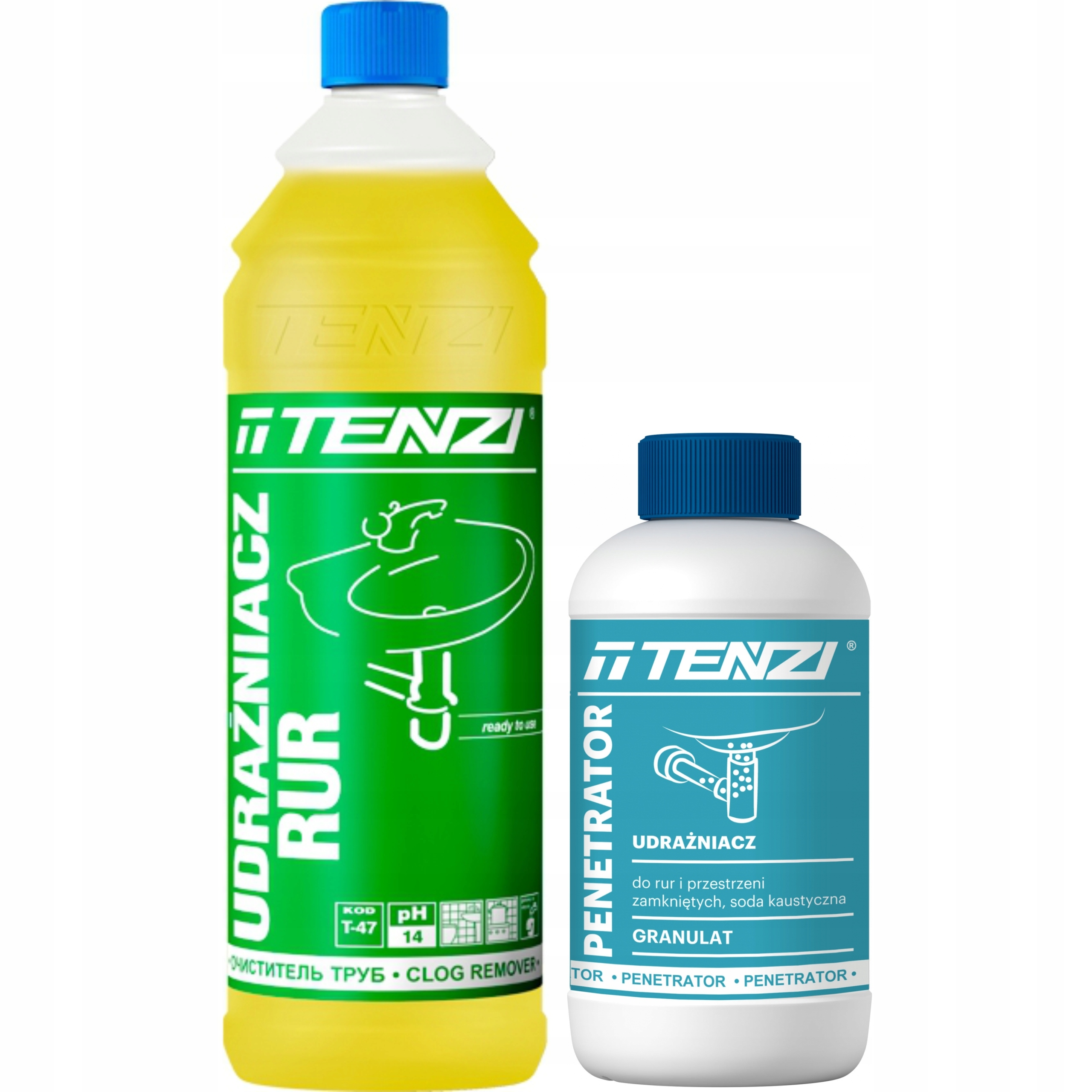 Комплект для чистки канализации Tenzi