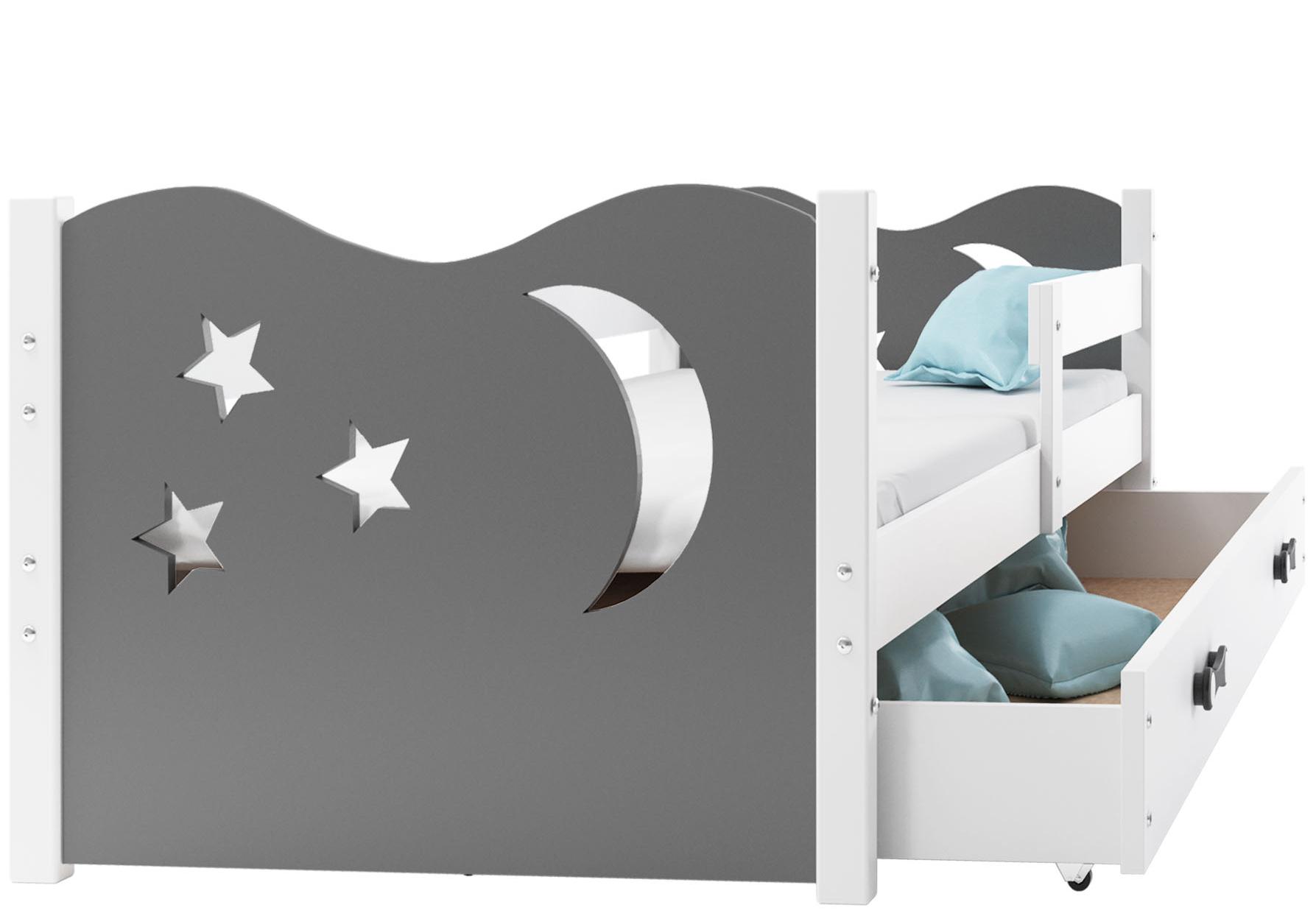 Łóżko Mikołaj dla dzieci pojedyncze 160x80+MATERAC