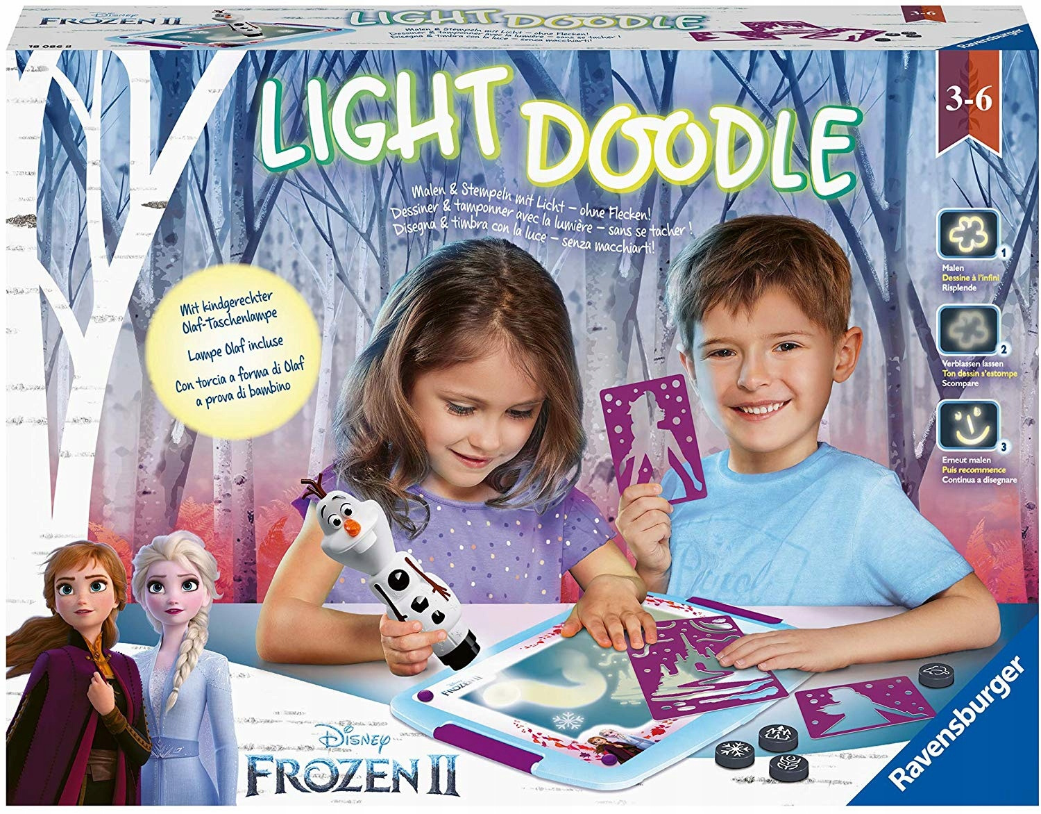 FROZEN 2 ICE KAINA Light Doodle BOARD PAINTED