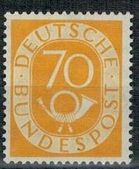 Niemcy 1951 Znaczek 136 ** obiegowe trąbka