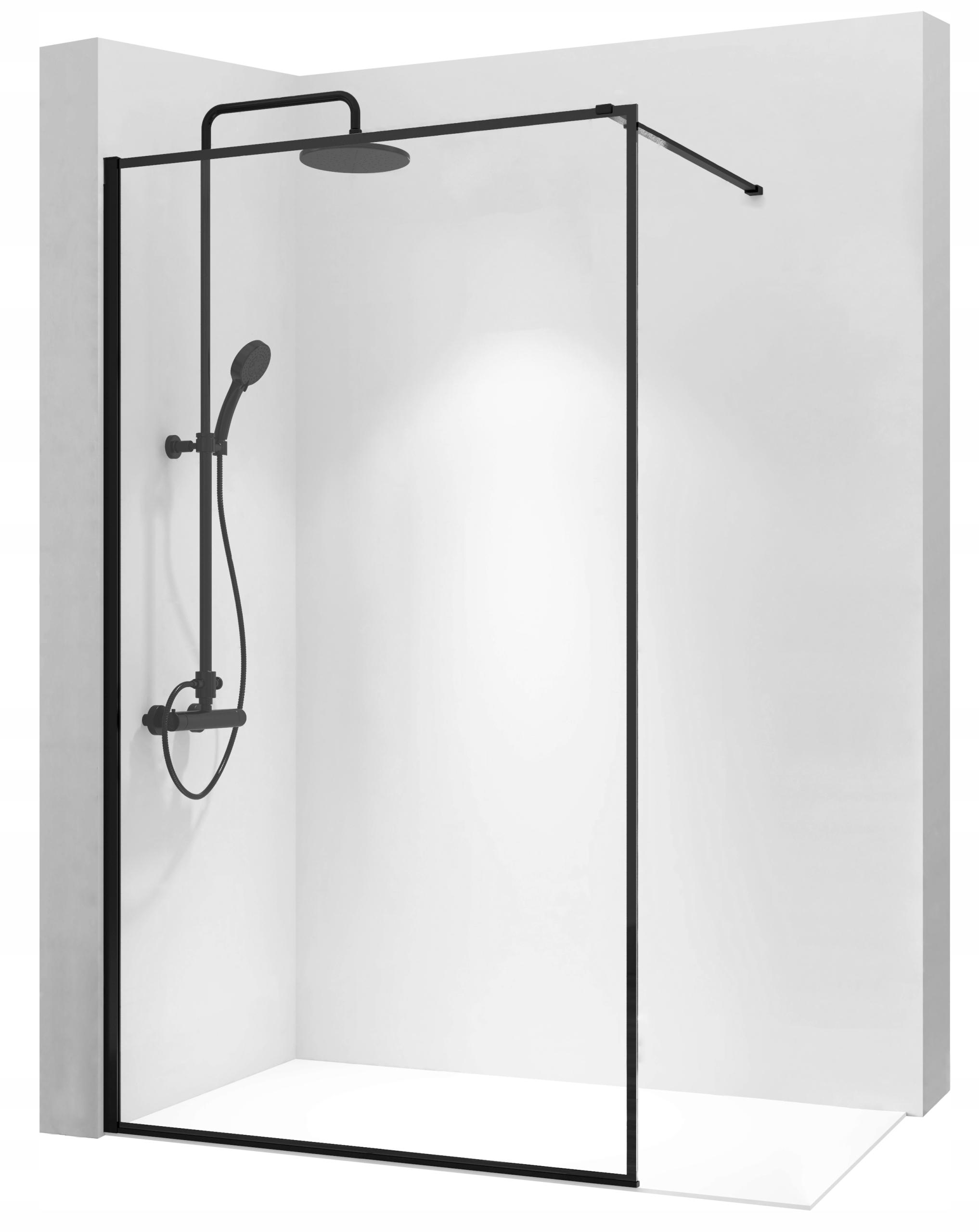 REA BLER90 WALK-IN 90 cm sprchová zástena čierna