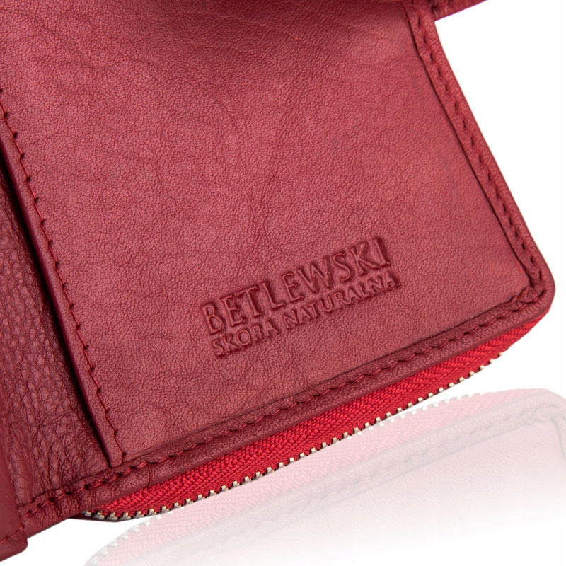 Купить Кожаный женский кошелек маленький RFID слайдер Betlewski на Otpravka - цены и фото - доставка из Польши и стран Европы в Украину.