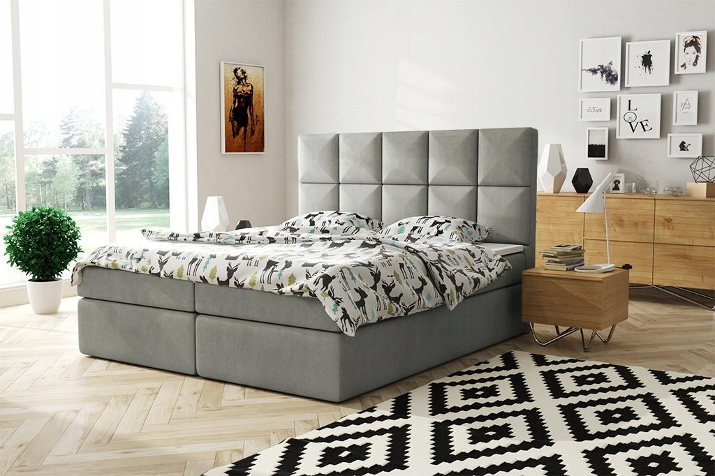 Панельная кровать континентальная 160х200 пружинная