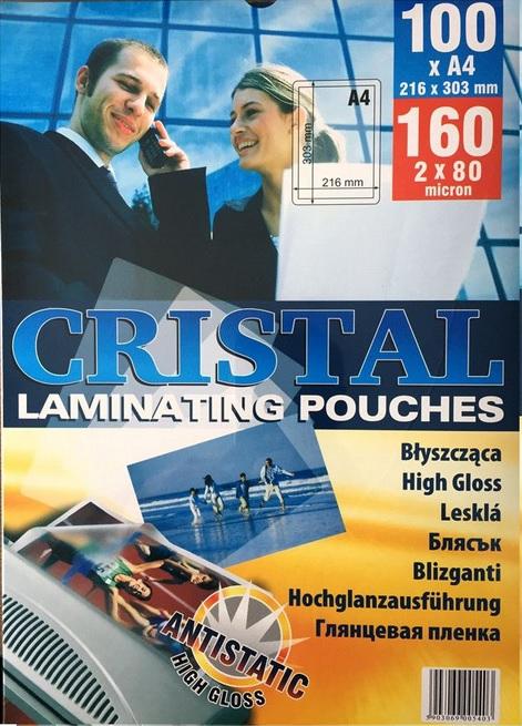 Folia laminacyjna do laminowania A4 80mic 100kpl