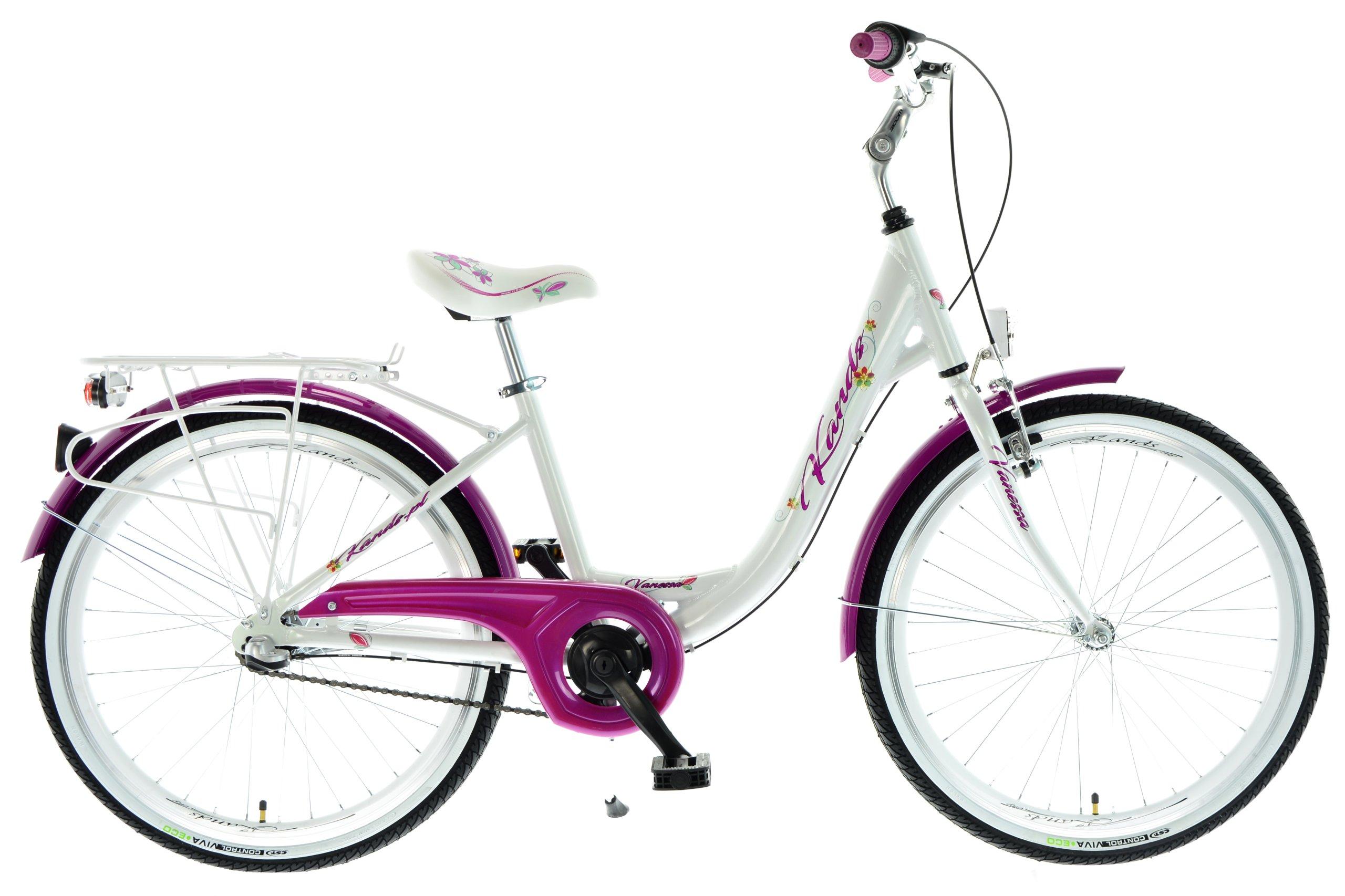 "Na bicykli 24"" Kands Vanessa biela-ružová 2018"