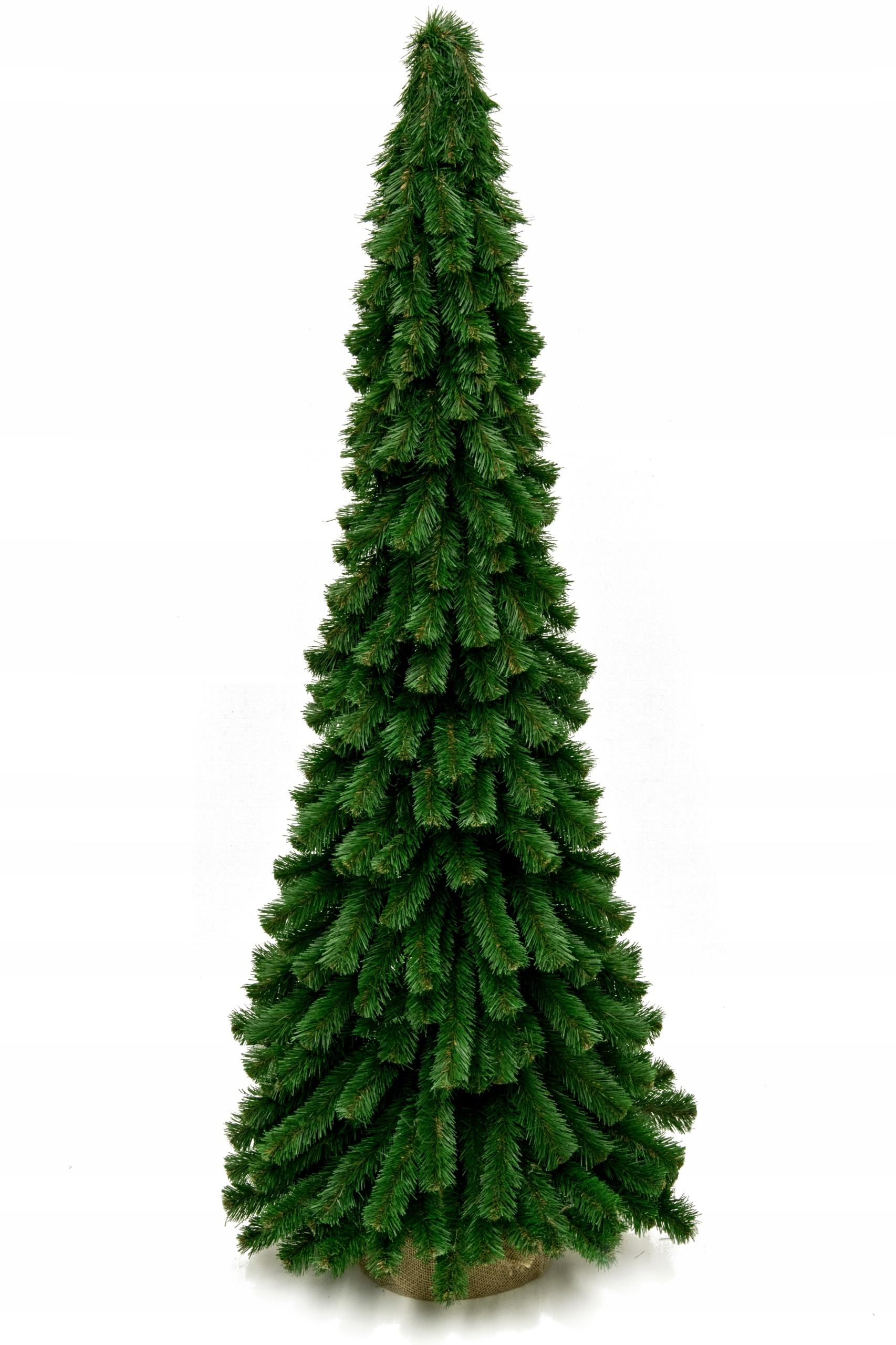 Dekoračný šiškový vianočný stromček, umelý kónický 100 cm