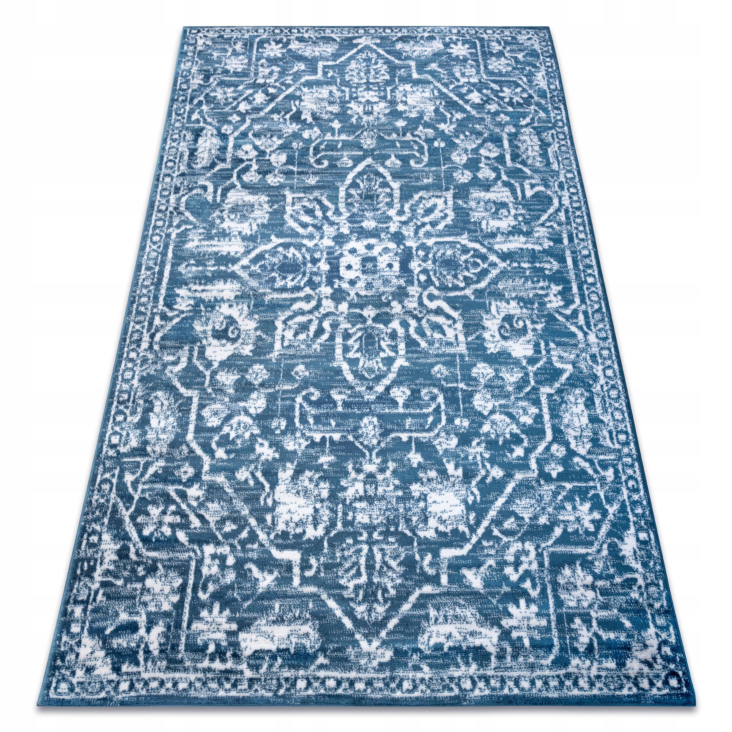 RETRO KOBEREC 120x170 cm ORNAMENT blue #GR3352