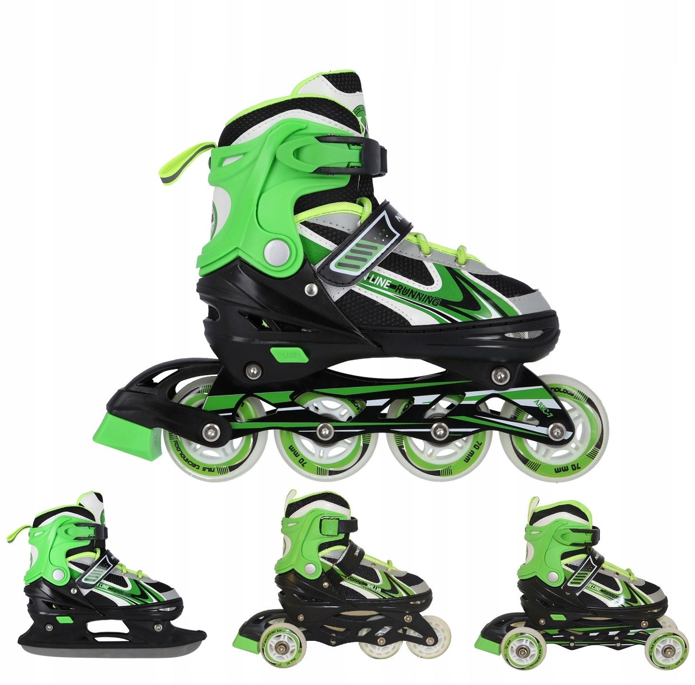 Valčeky nastaviteľné kolieskové korčule, korčule, kolieskové korčule 4w1 29-33