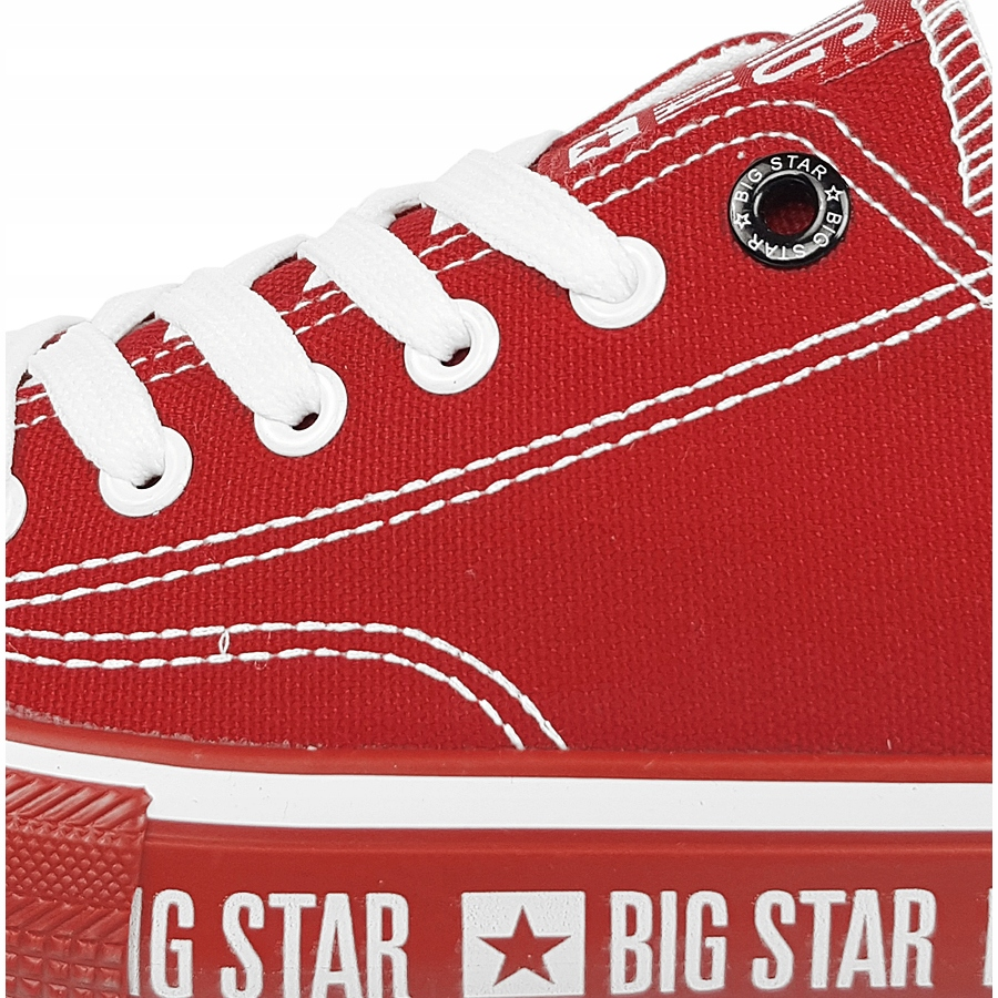 Trampki Big Star damskie czerwone buty FF274236 37