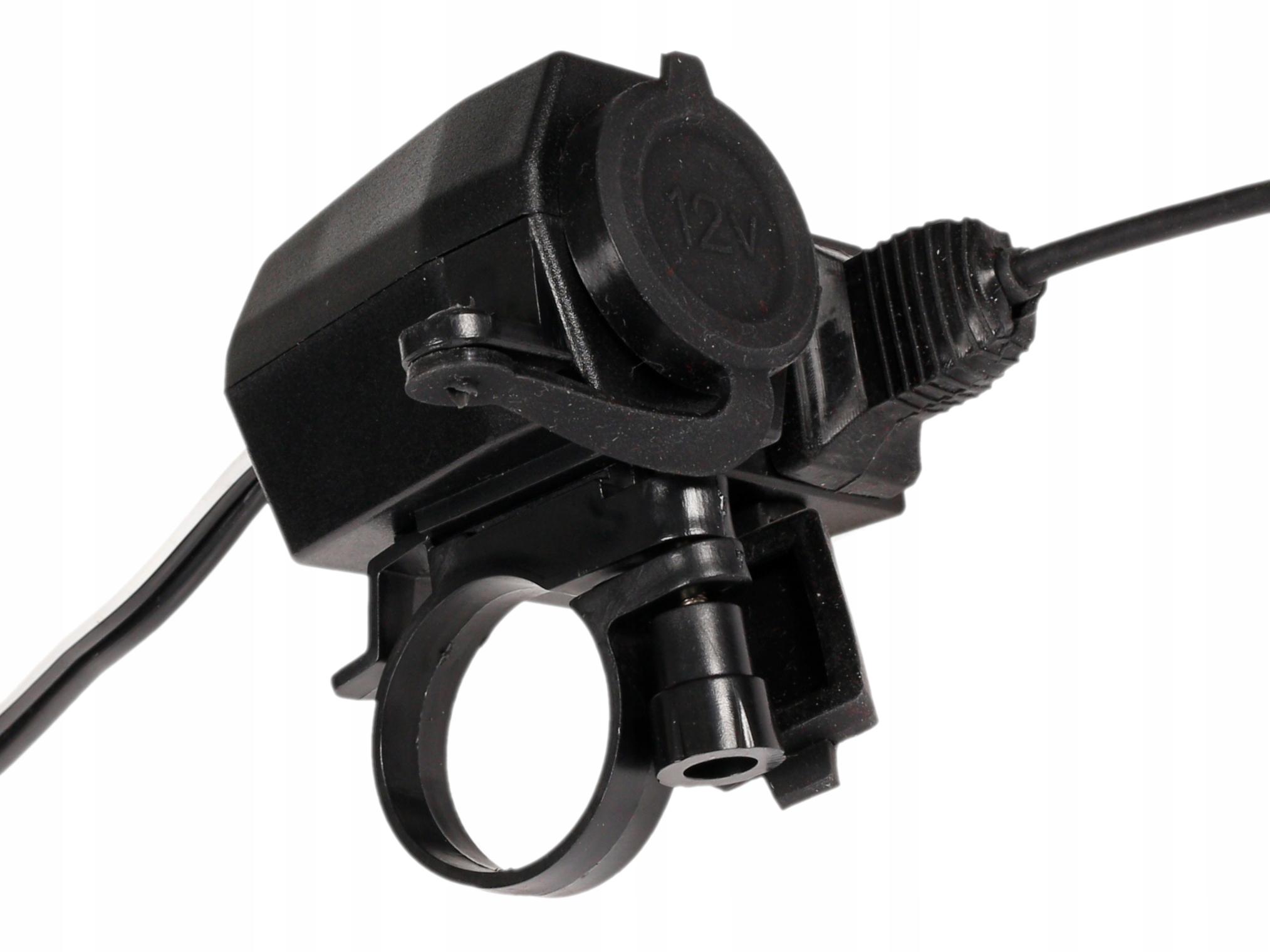 Мотоцикл прикуривателя с USB 2,1 А изображение 10
