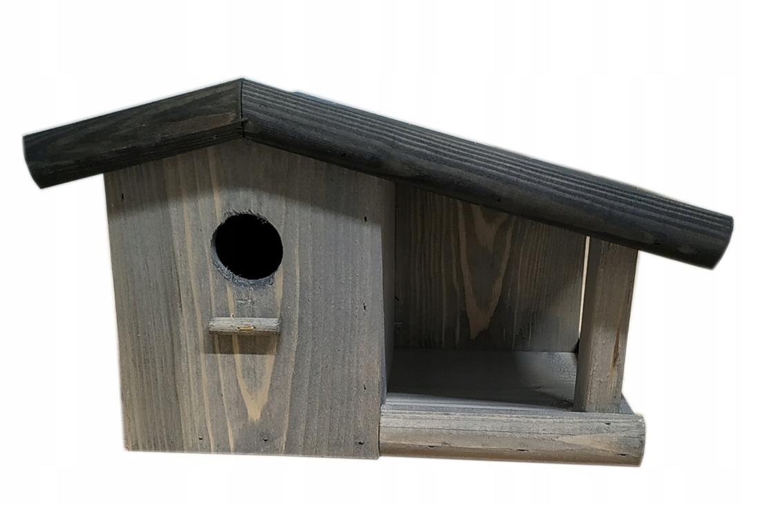Drewniana Budka lęgowa dla ptaków, karmnik, domek