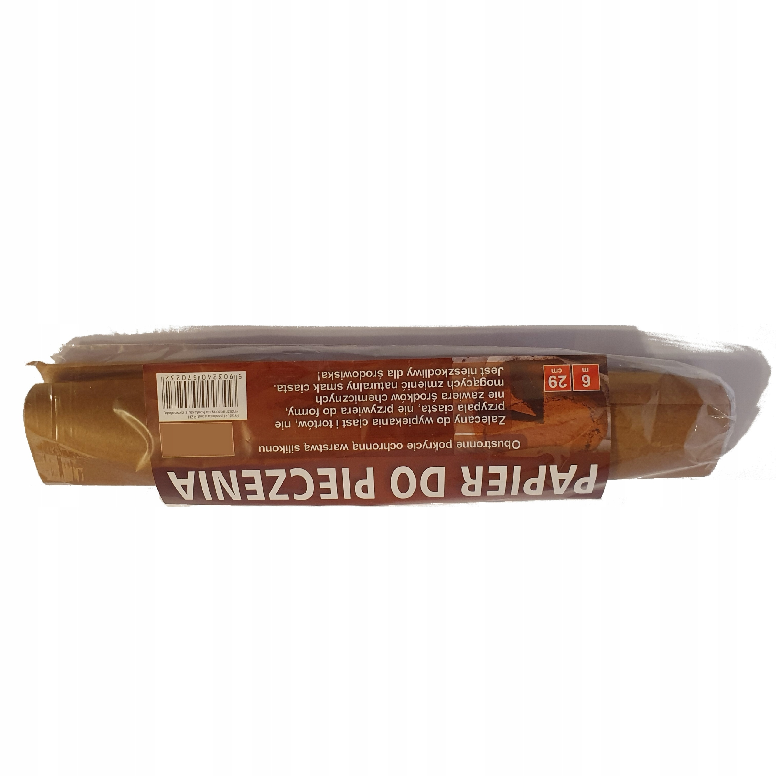 BAKING PAPER 29cm DOUBLE-SIDED BROWN SILICONE 6m