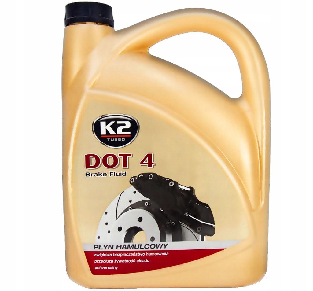 K2 DOT 4 ТОРМОЗНАЯ ЖИДКОСТЬ 5 КГ 230 в.