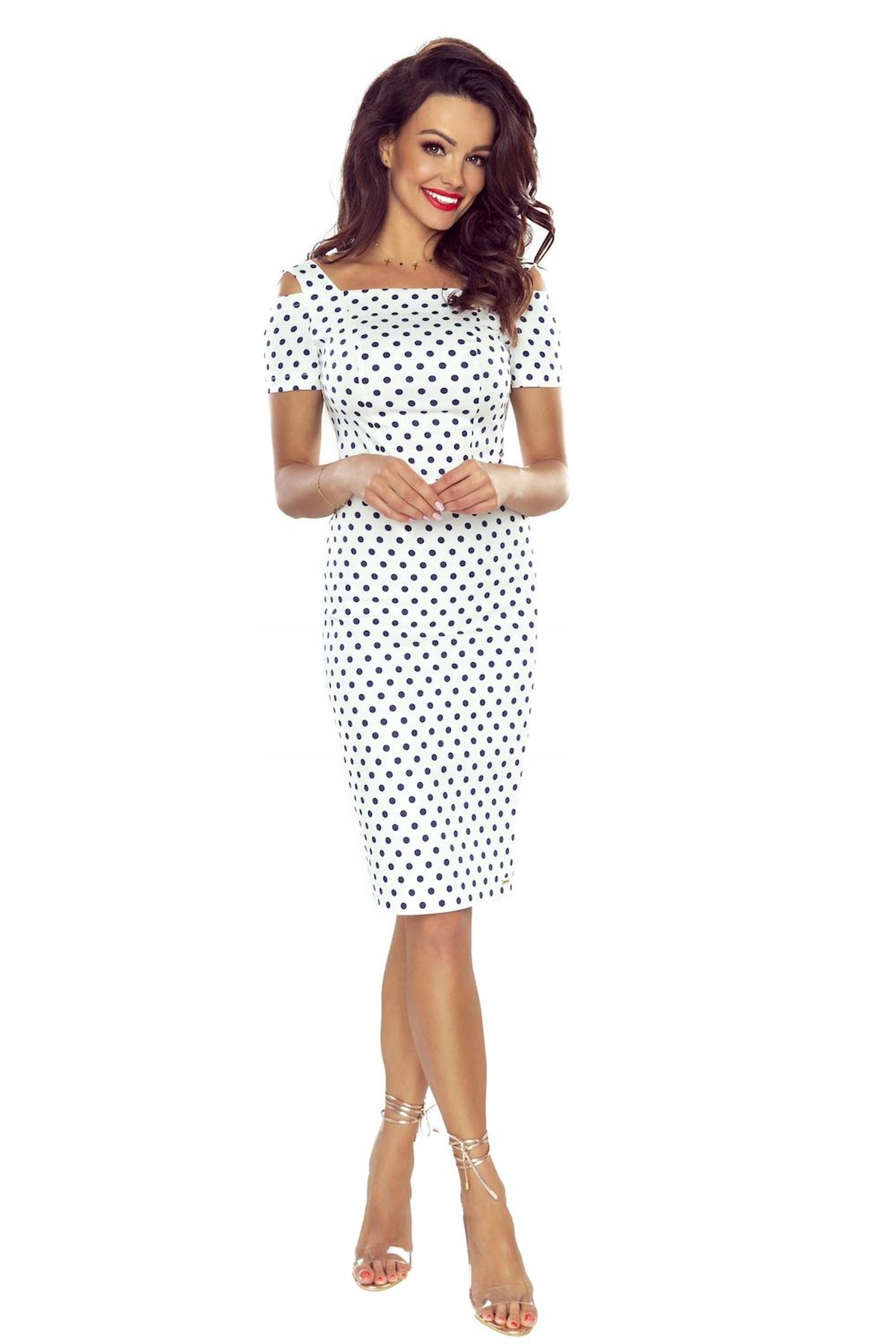 ELEGANCKA PROSTA Sukienka NA WESELE 54826 S 36