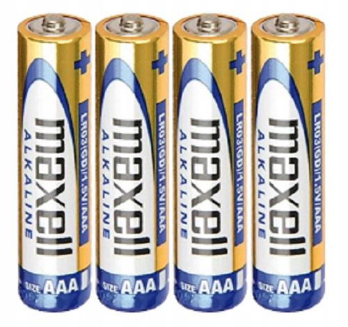 4x Baterie AA 1,5V Alkaline MAXELL LR6 Waga (z opakowaniem) 0.1 kg
