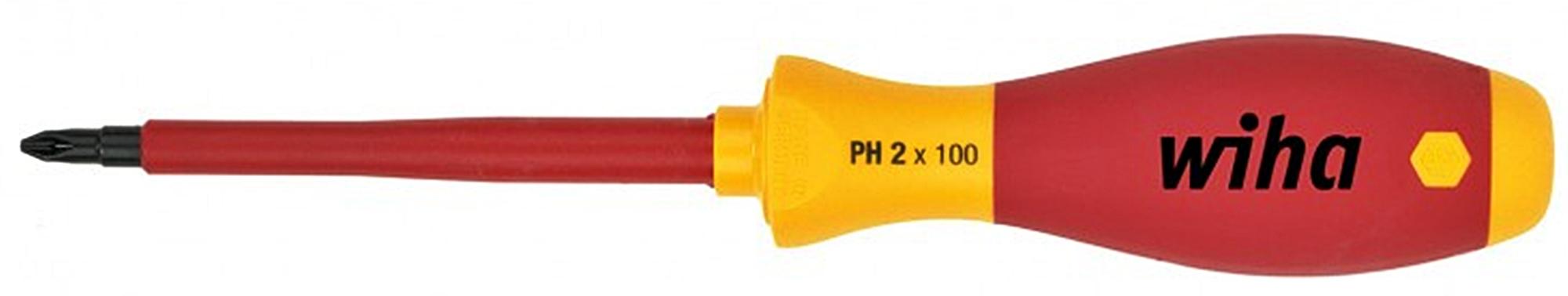 Skrutkovač krížový PH2 x 100mm 1000V 00848 WIHA