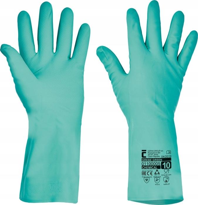 GREBE Нитриловые перчатки, хозяйственные СЕРВА 10/XL