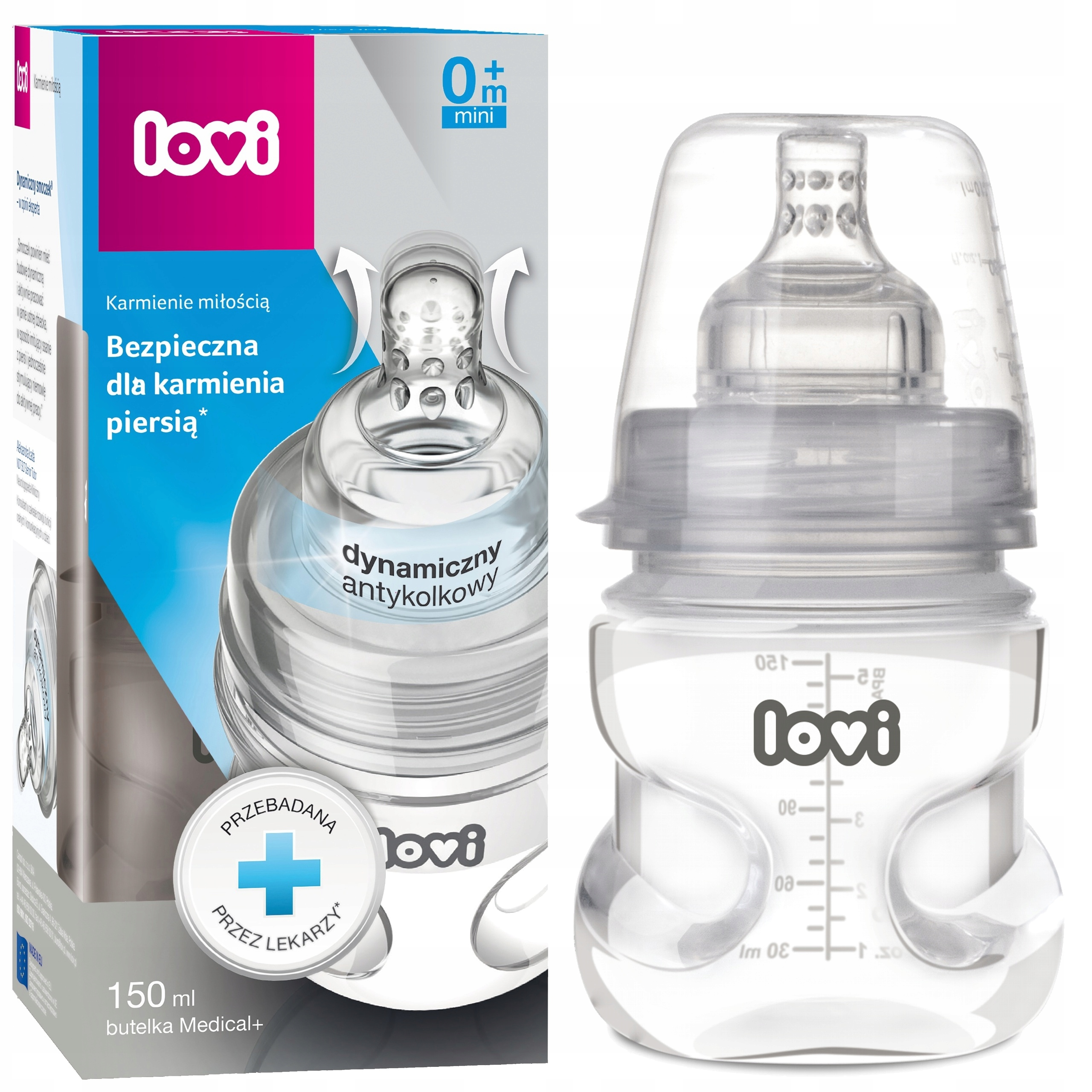 Lova Medical Bottle + 150ml Supentvent Pacifier 0m +