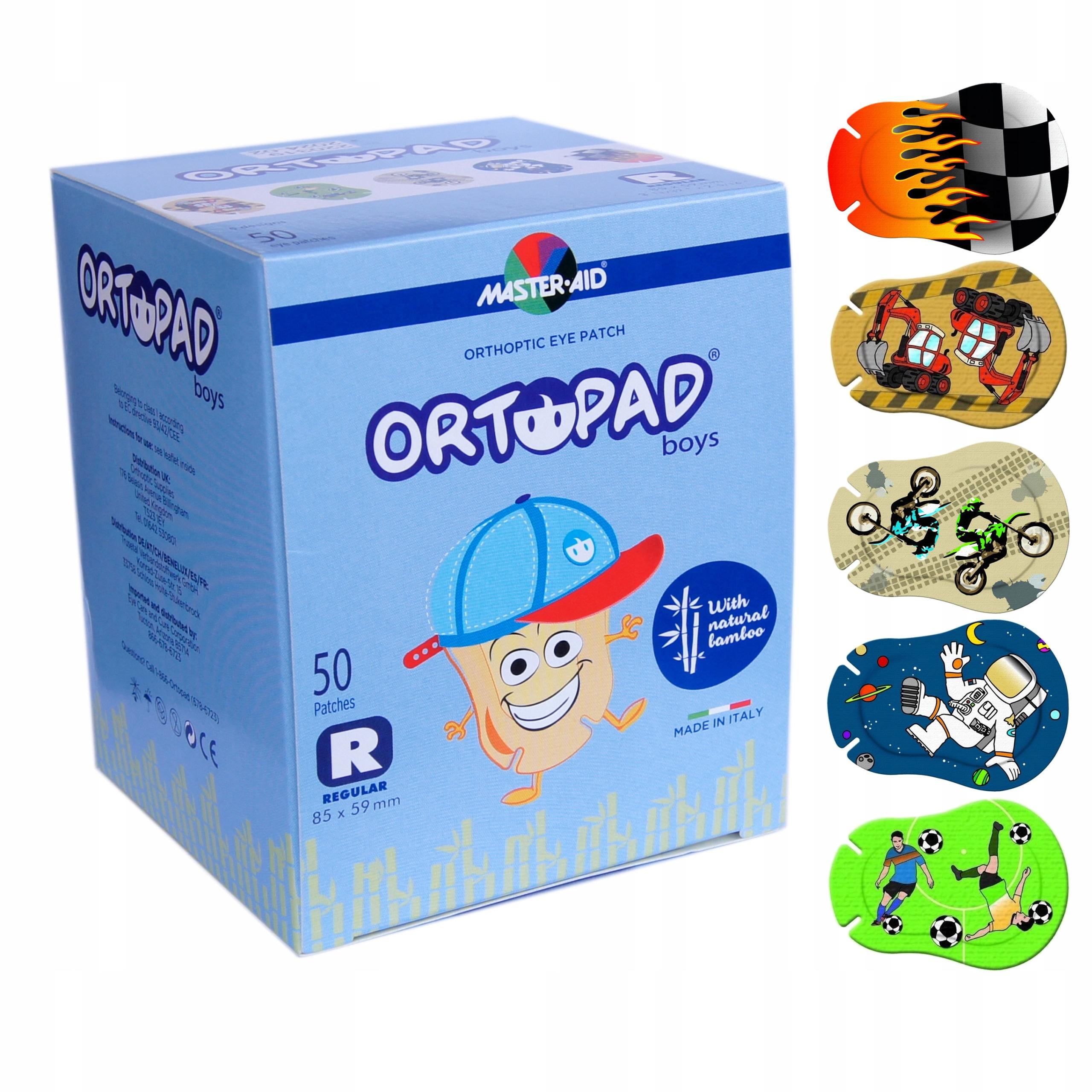Купить Ortopad Большой Узор, REGULAR Boy Пластырь На Глаз x50 на Otpravka - цены и фото - доставка из Польши и стран Европы в Украину.