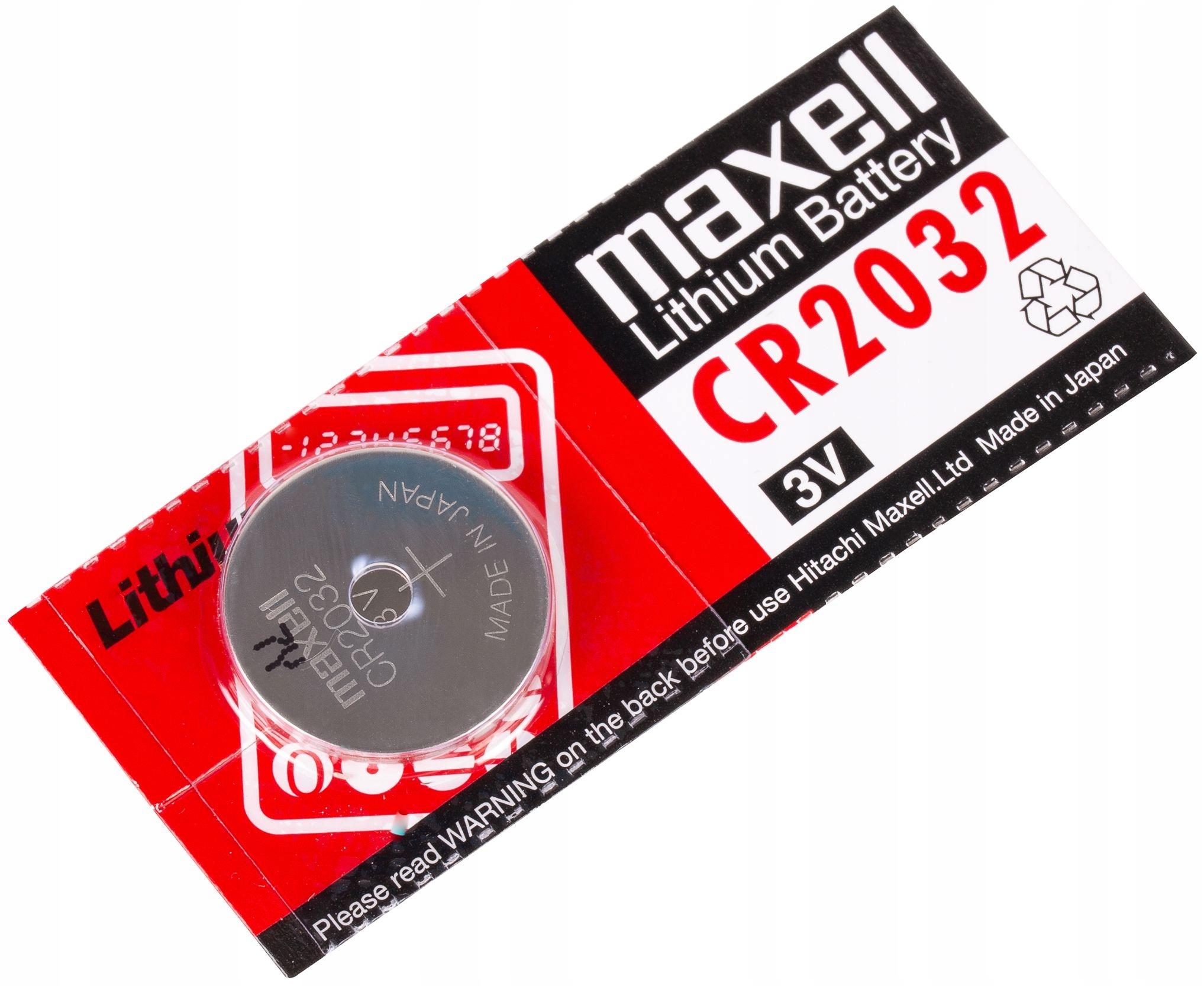 аккумулятор литиевая cr 2032 maxell cr2032 3v возможность