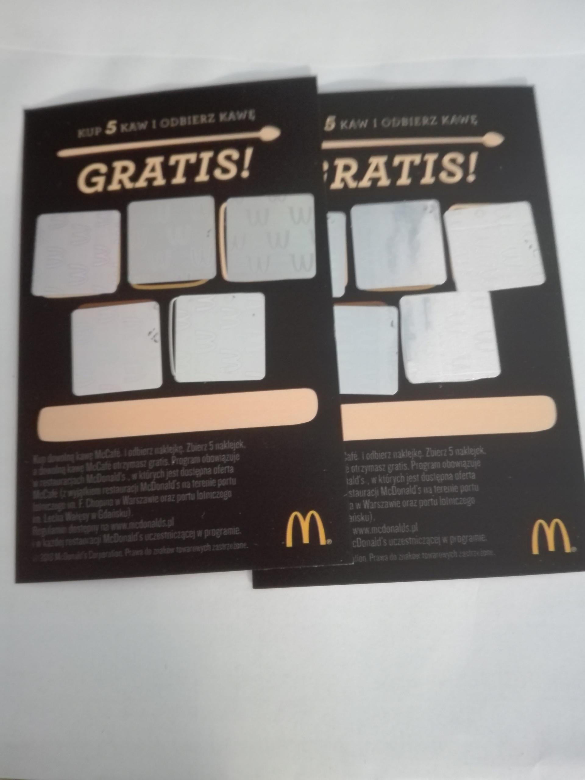 Item Kupony na kawę do McDonald's 15 +1 gratis