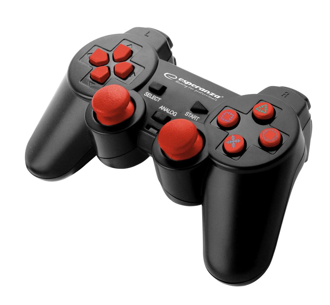 Купить GAMEPAD PC / PS3 USB TROOPER Черный и Красный на Otpravka - цены и фото - доставка из Польши и стран Европы в Украину.