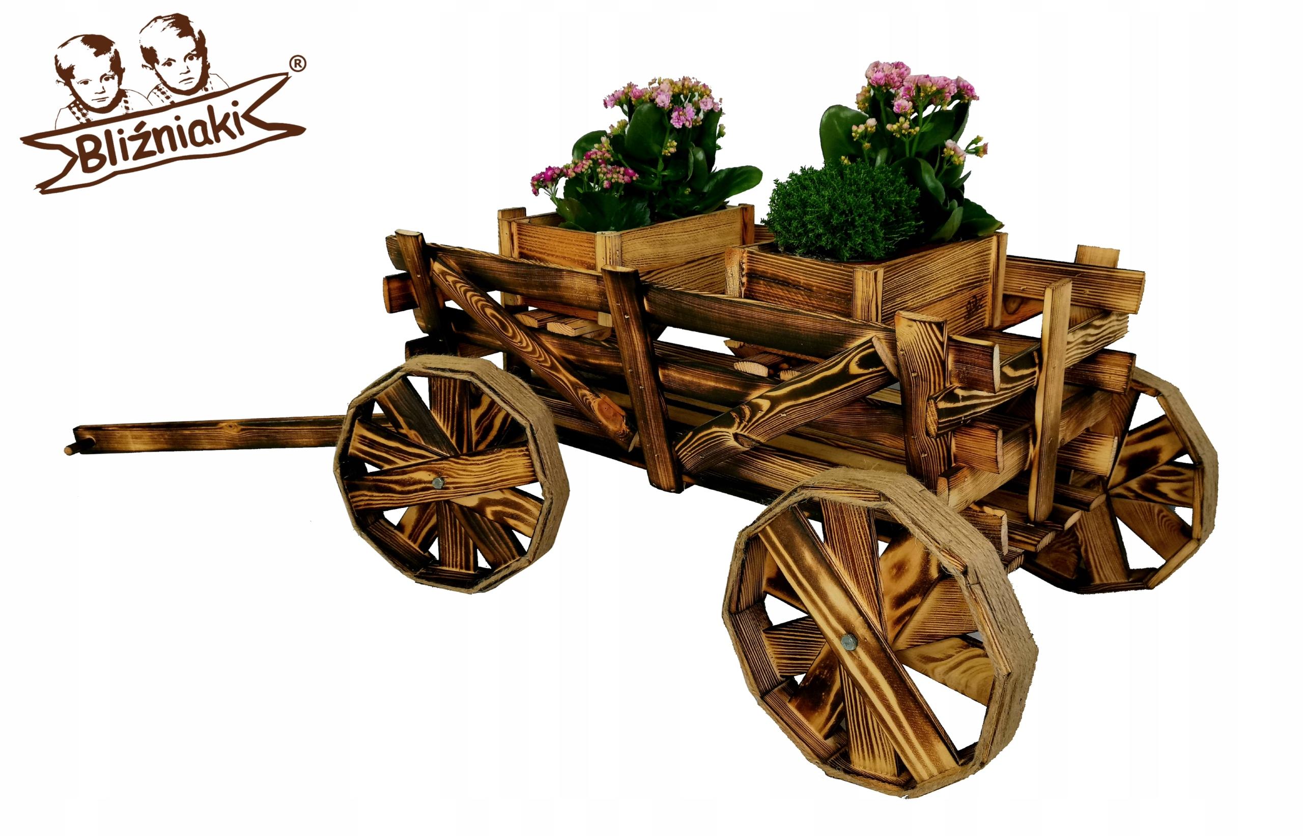 Dekoratívne drevené VOZEŇ DRABINIASTY Flowerbed Sadenie