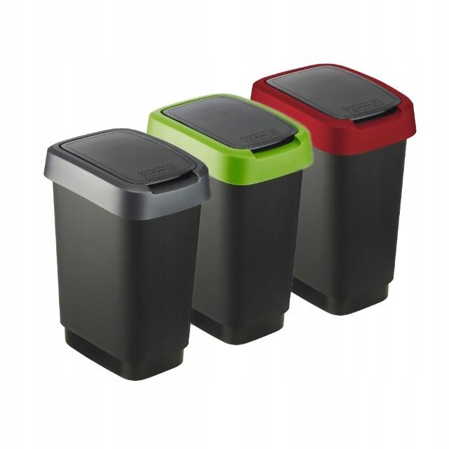 Kosz na śmieci do segregacji TWIST 10 L zestaw