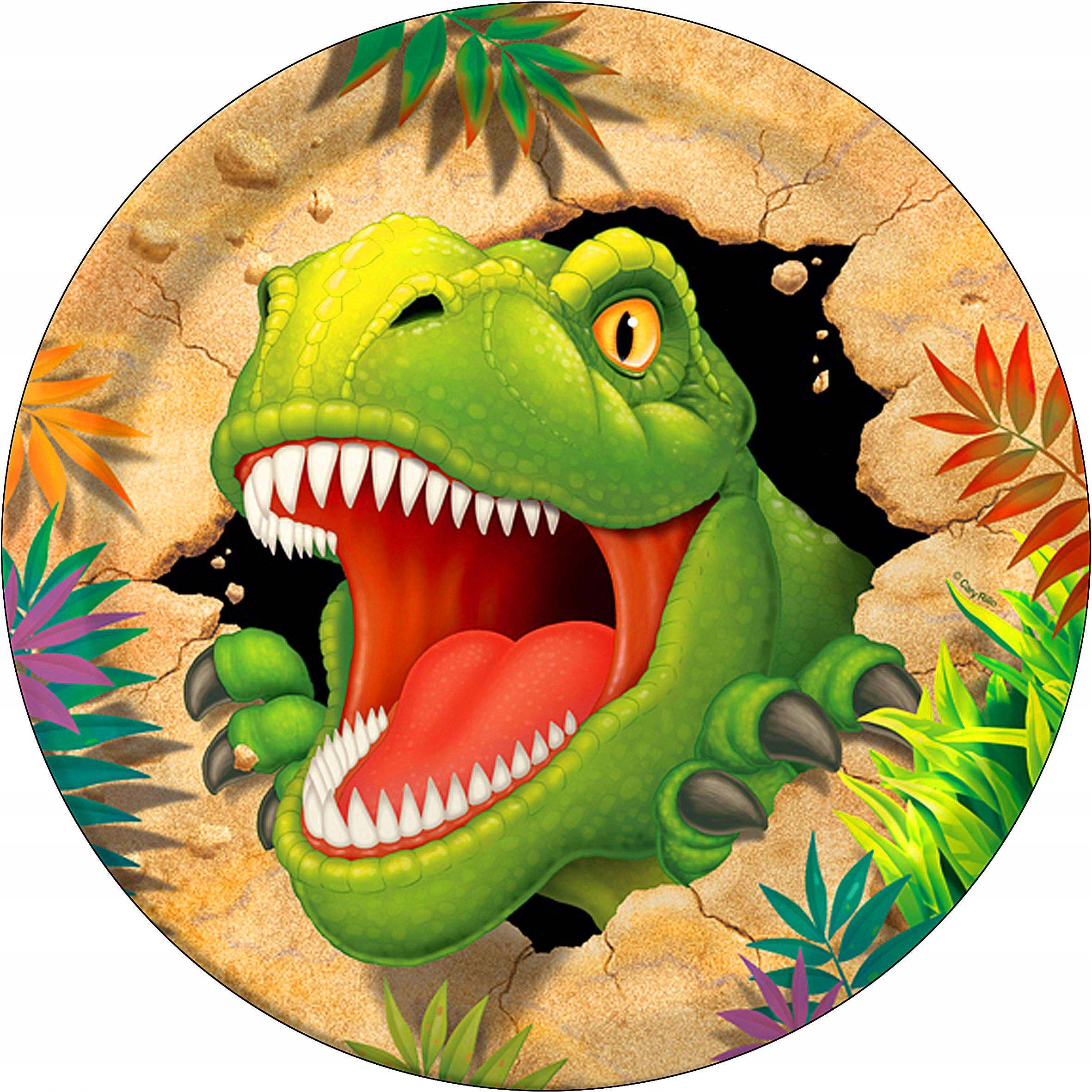 спиной, динозавр картинка на торт круглая этого