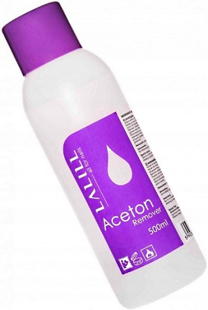 Aceton Kosmetyczny Remover Hybrydy Manicure 500ml