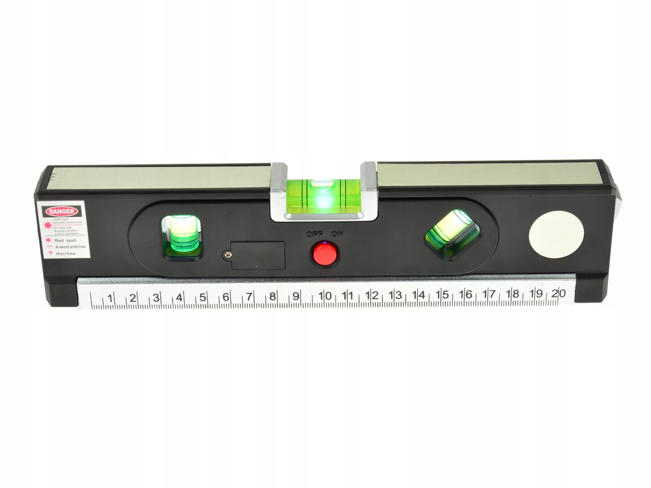 Laserová úroveň osvetlená meradlom 1,5 m