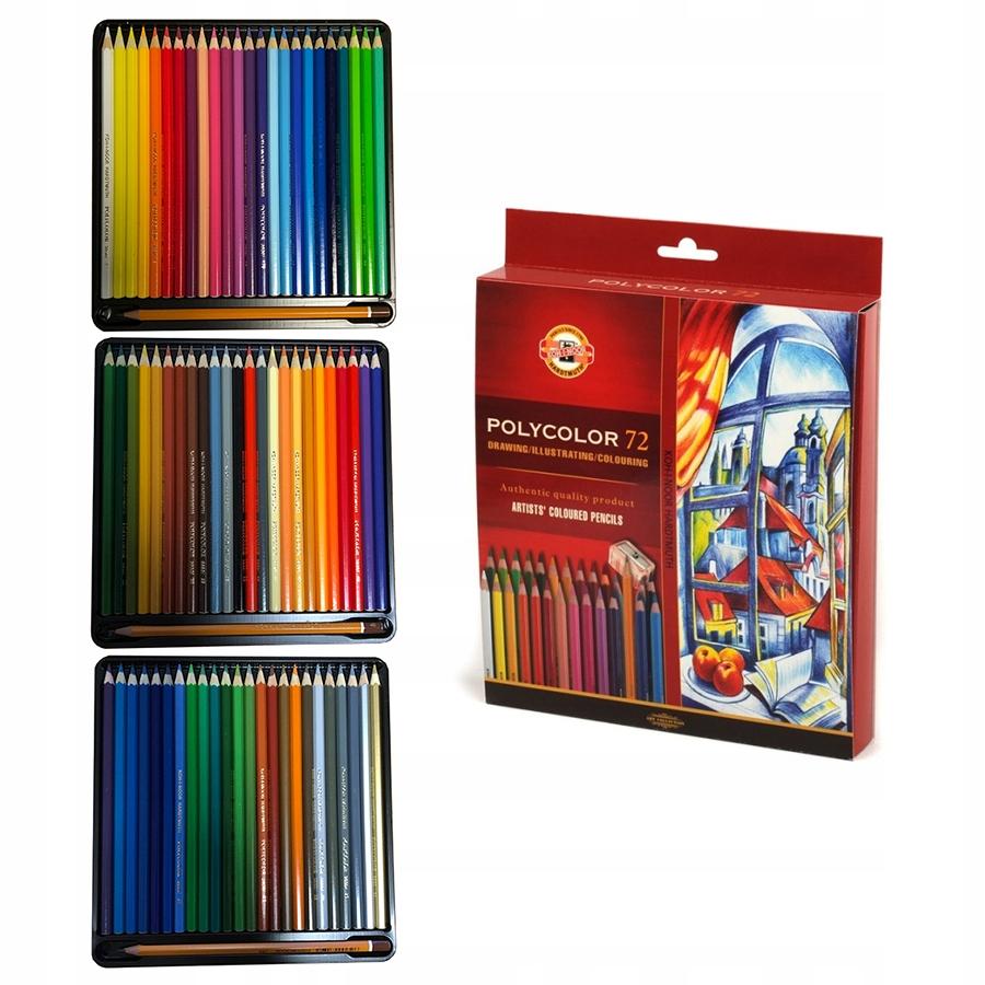 Item Colored pencils 72 color POLYCOLOR Koh-I-Noor 3837 + Pencils