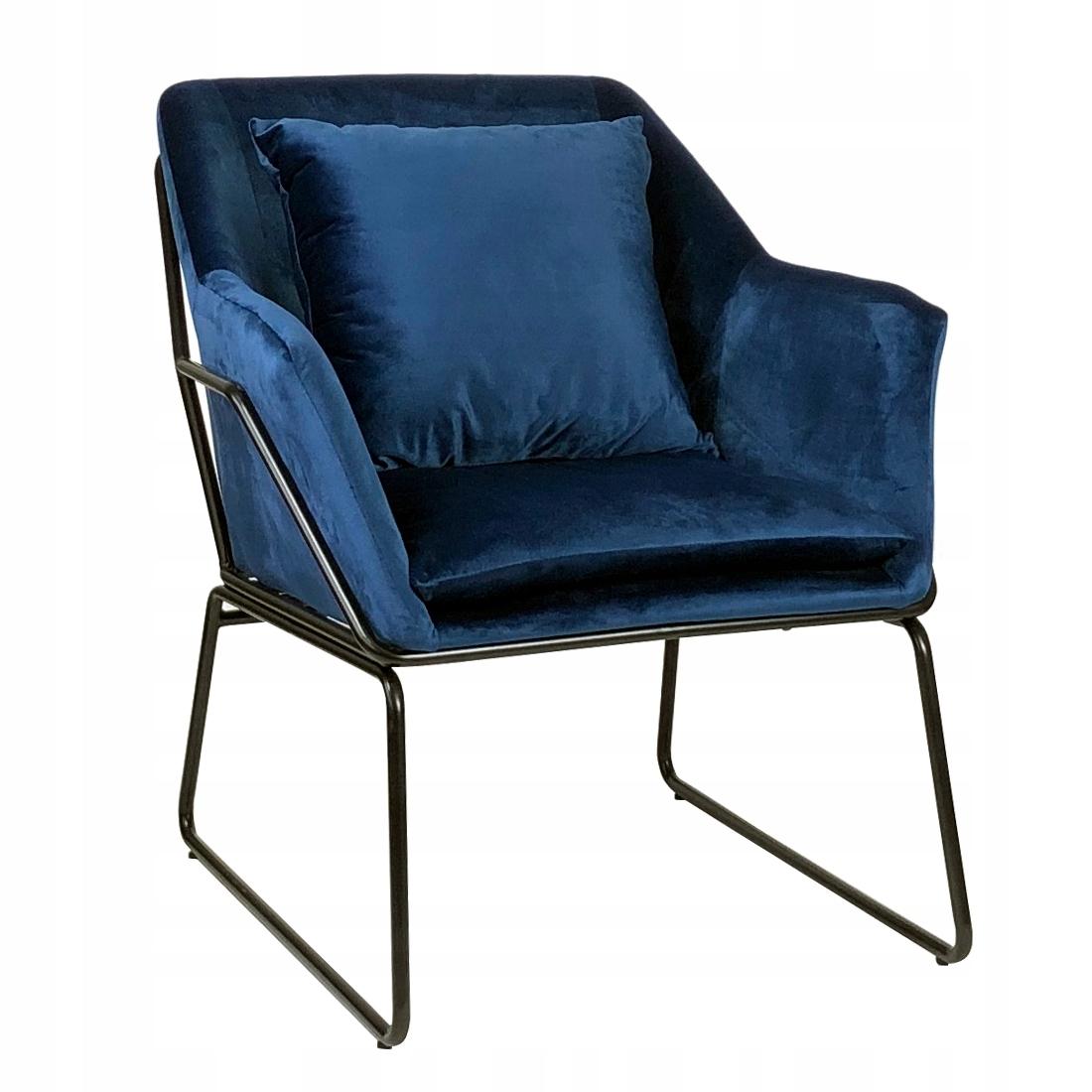 Tomo бархатное темно-синее кресло с обивкой